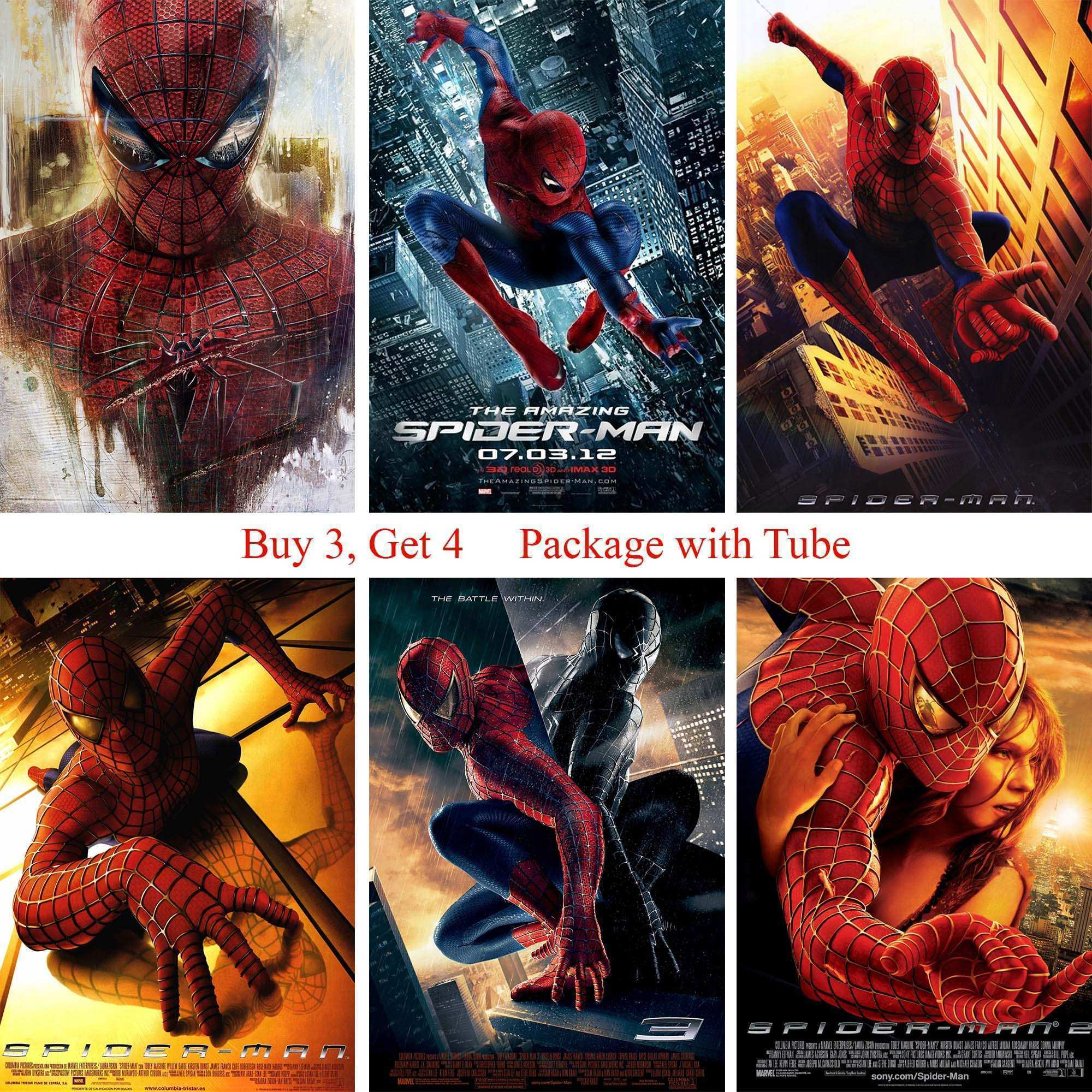Spiderman Posters White Coated Paper Prints Wall Stickers Home