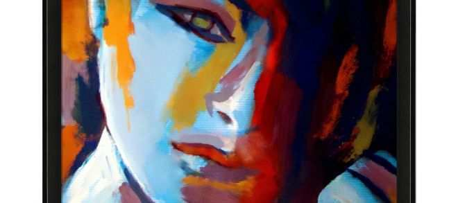 Art Prints for Sale Beautiful Divided is A Colorful Expressionist Painting Of A Woman by Helena