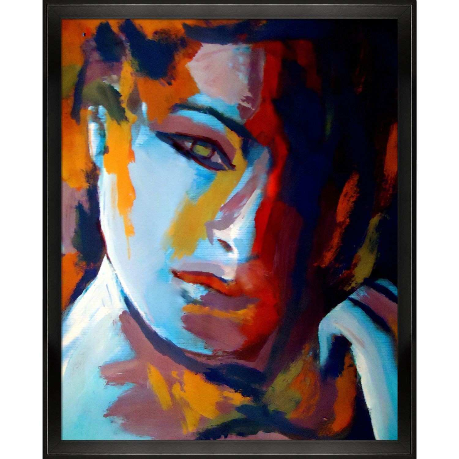 Divided is a colorful expressionist painting of a woman by Helena