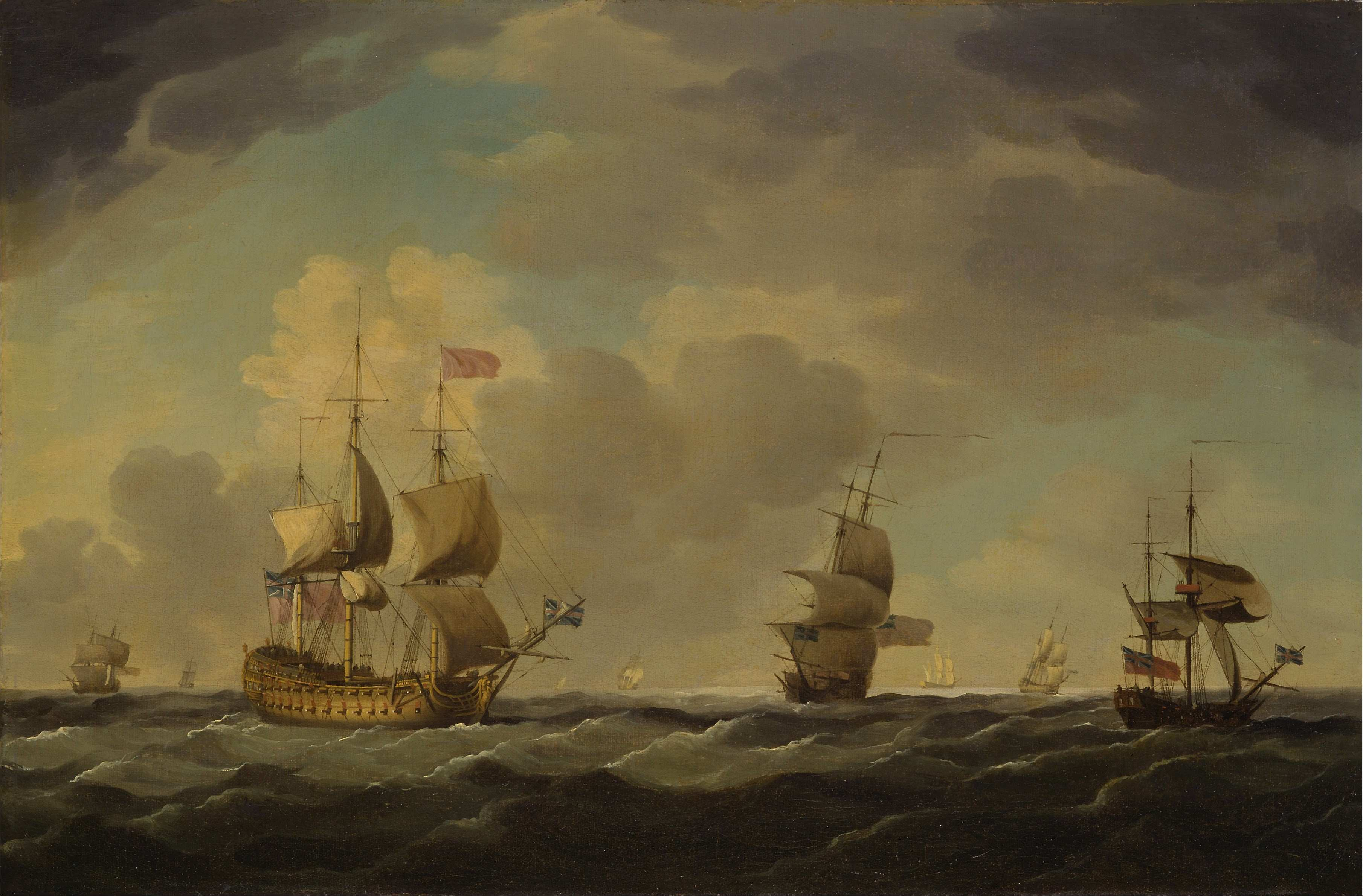 File Charles Brooking An English Flagship Under Easy Sail in a