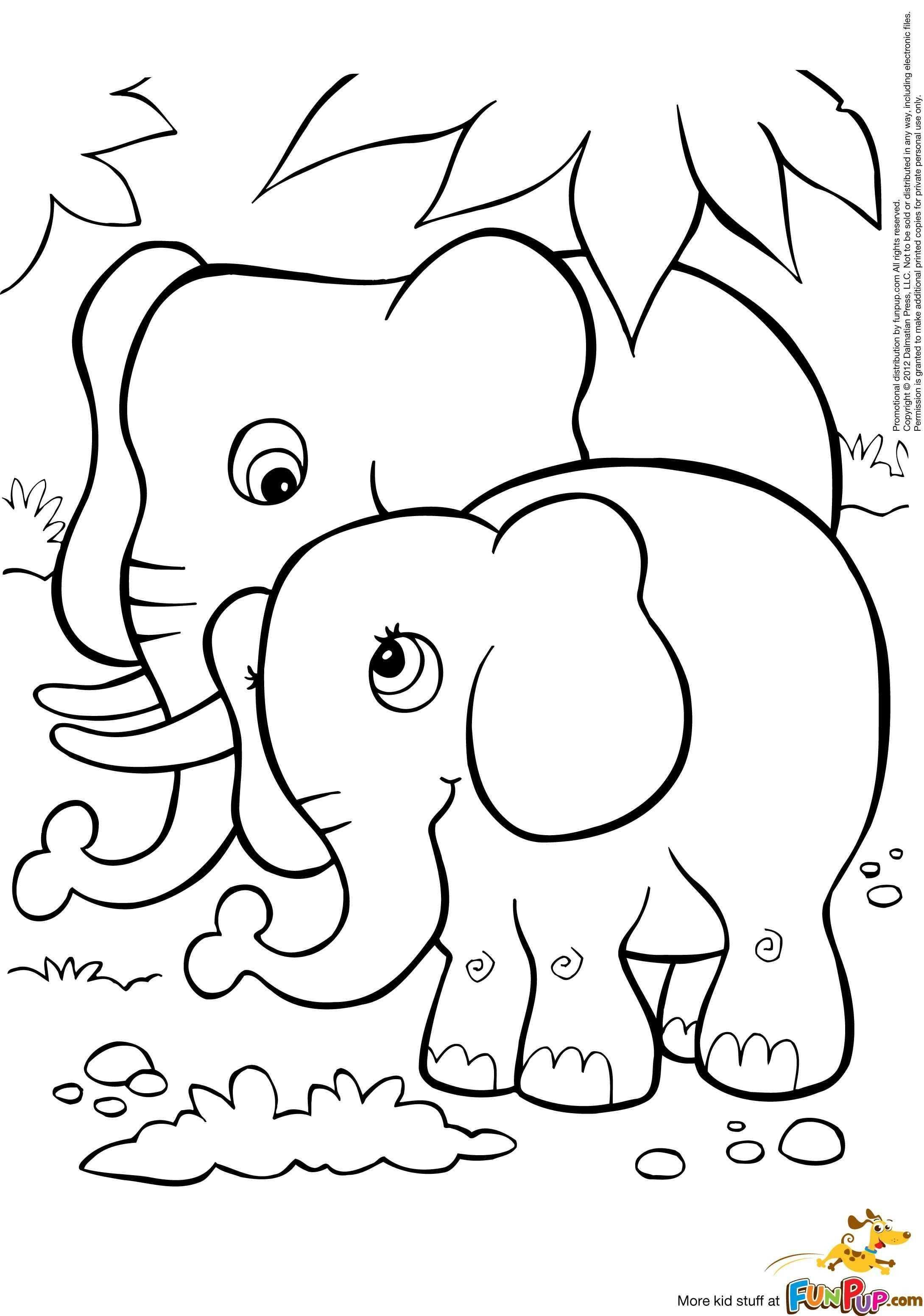 Coloring Pages For Kids Elephant Fun Stuff To Color Beautiful Fresh