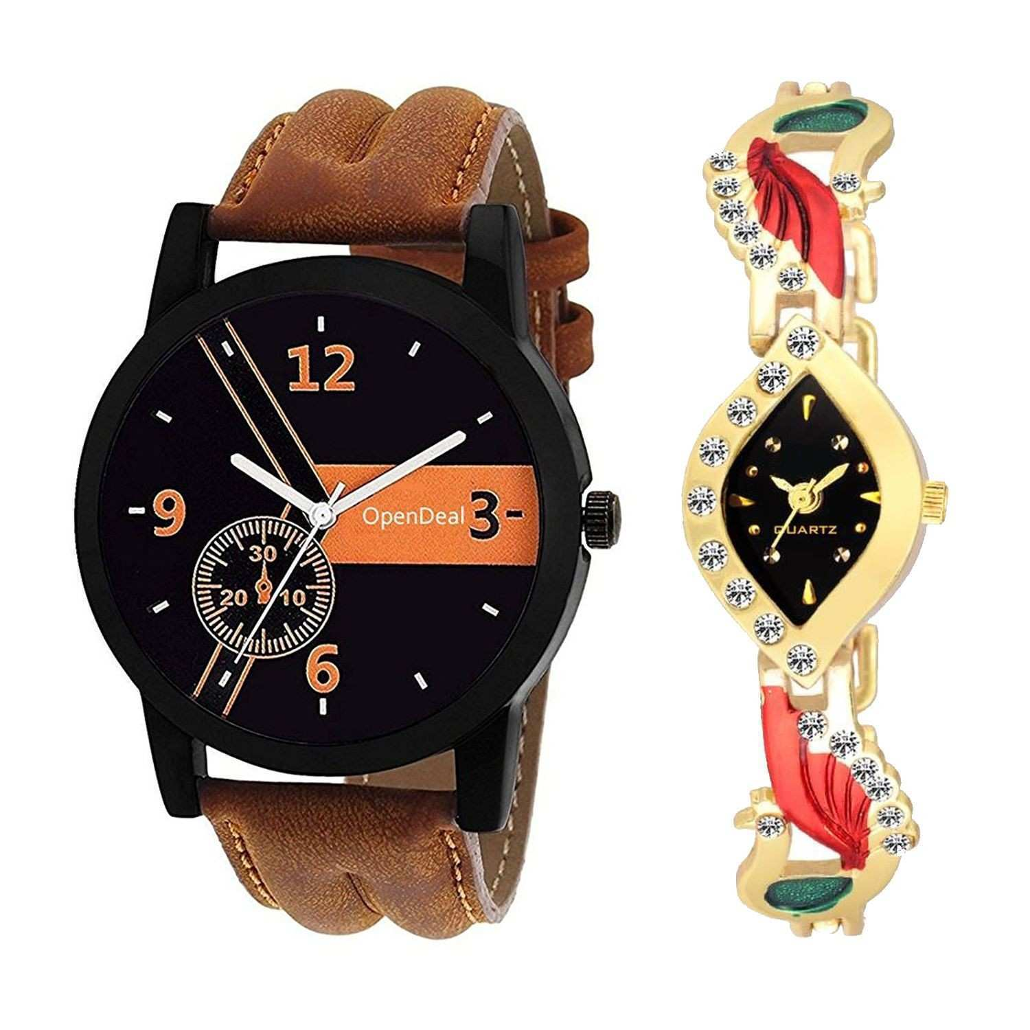 OD C2 011 New Arrival Stylish bo Couple Watch For Boys & Girls