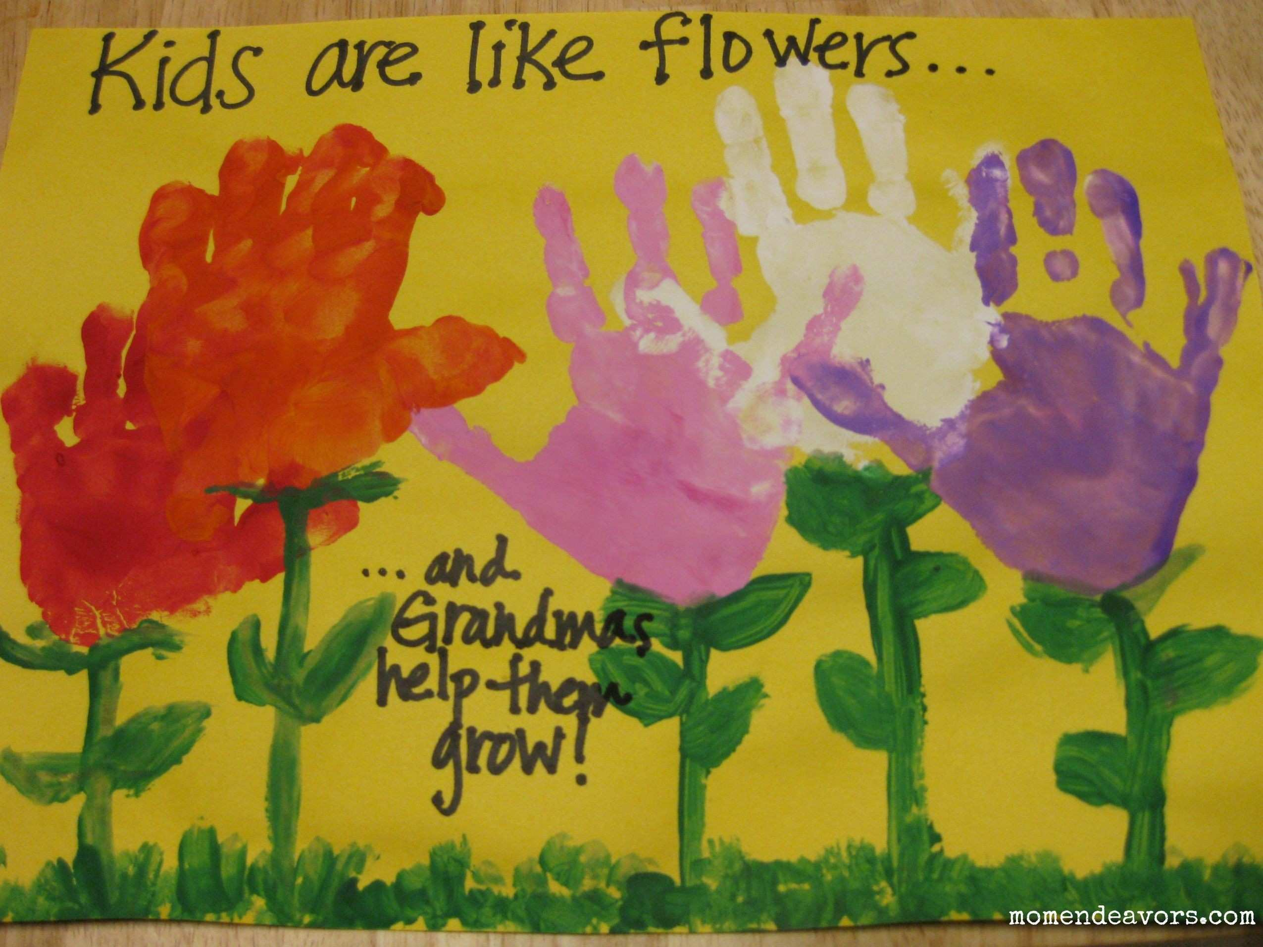 handprint flowers Second Chance to Dream 15 Kids Mother s Day