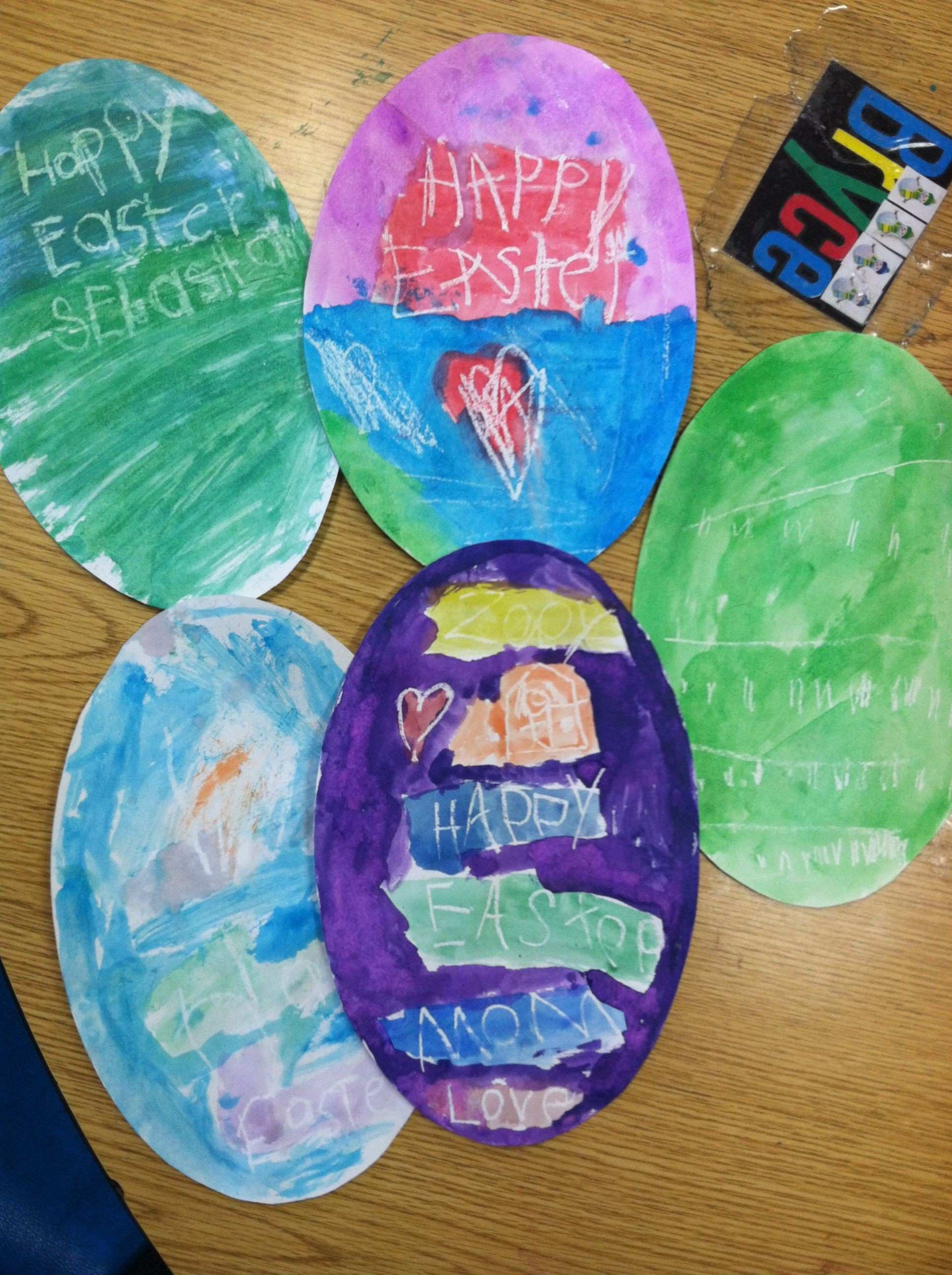 Resistance Easter art project Kindergarten Adventures