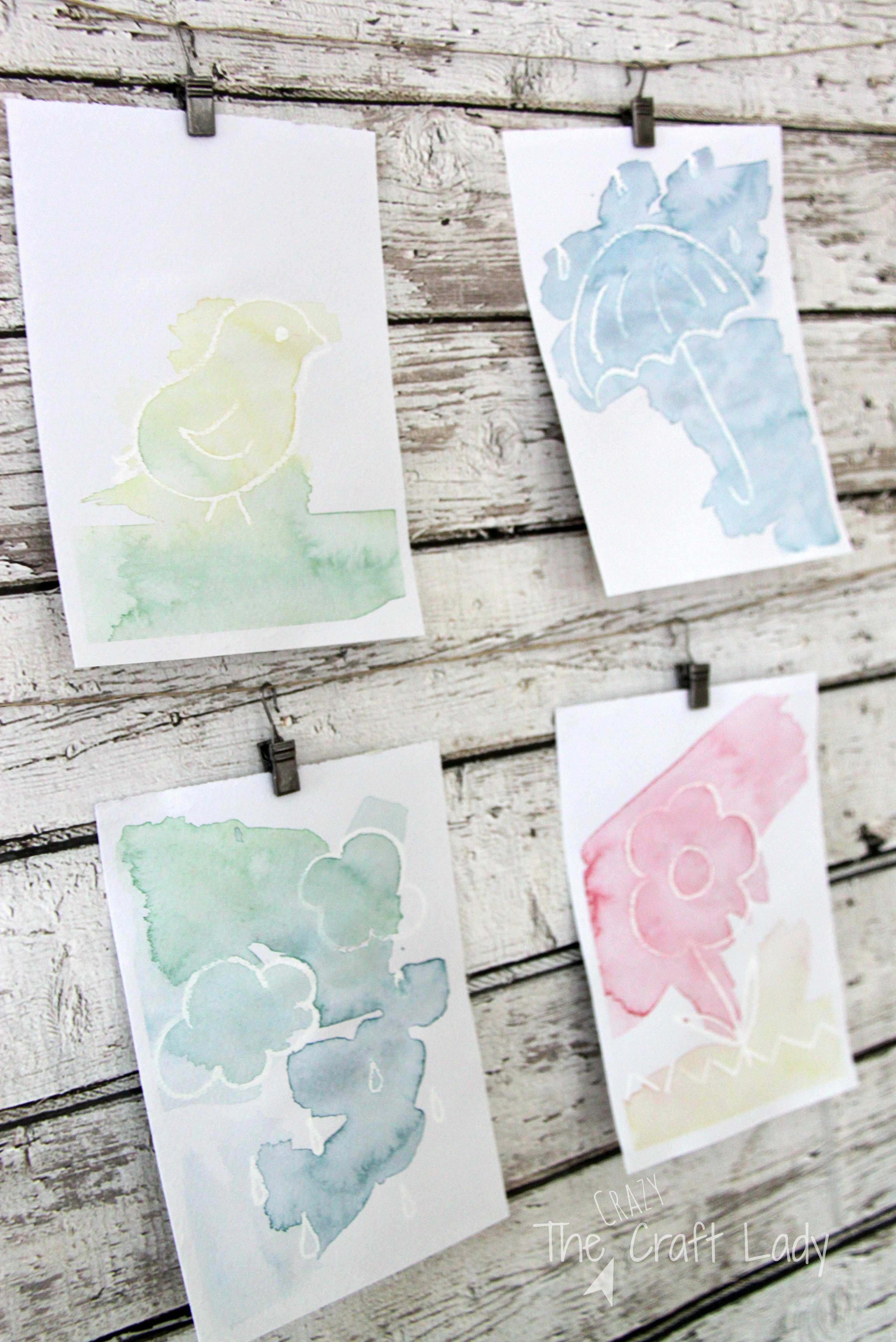 Easy Spring Watercolor Craft The Crazy Craft Lady