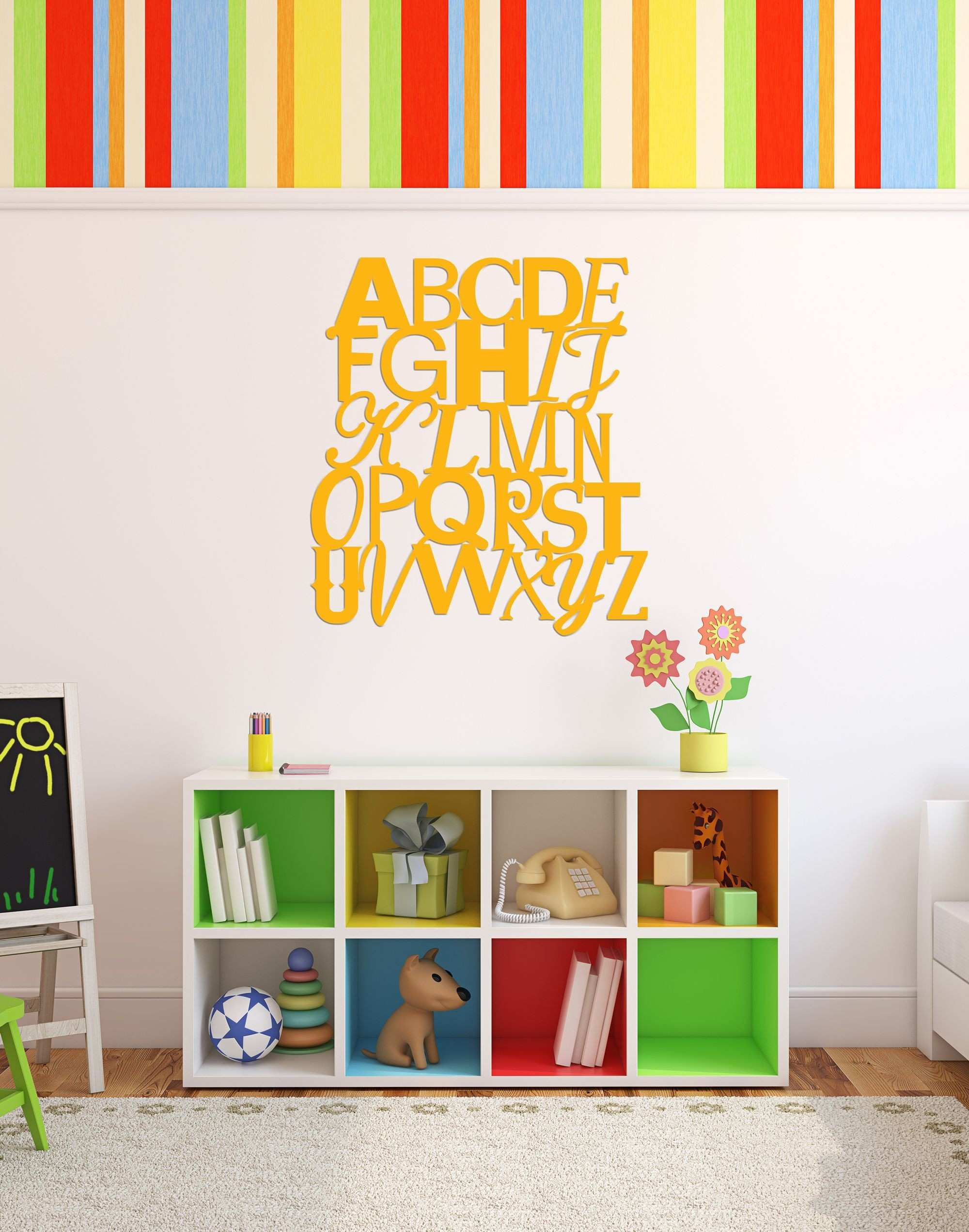 Artwork for Kids Room Beautiful Abc Wall Sign Artwork for Kids ...