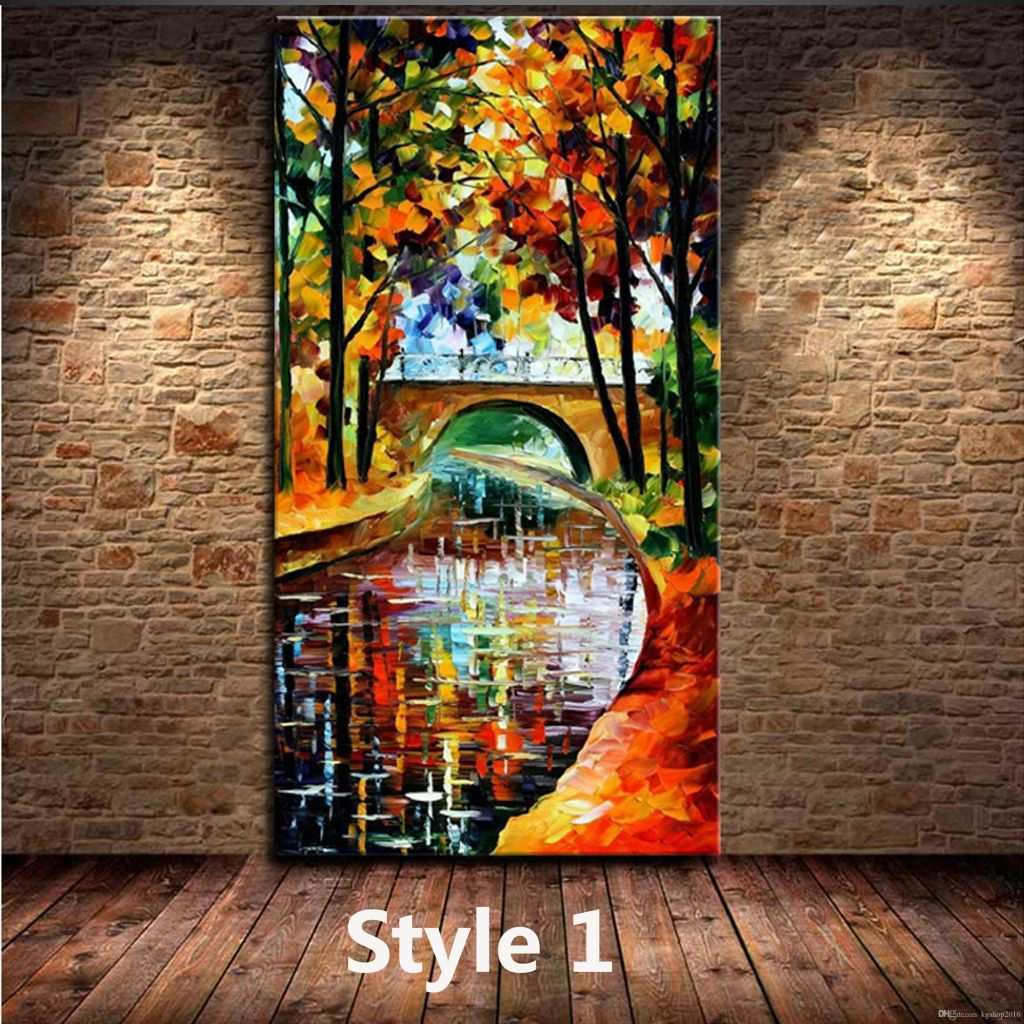 Artwork for Sale Online Lovely 2018 Kg Handmade Acrylic Painting Canvas Art Knife Paintings River