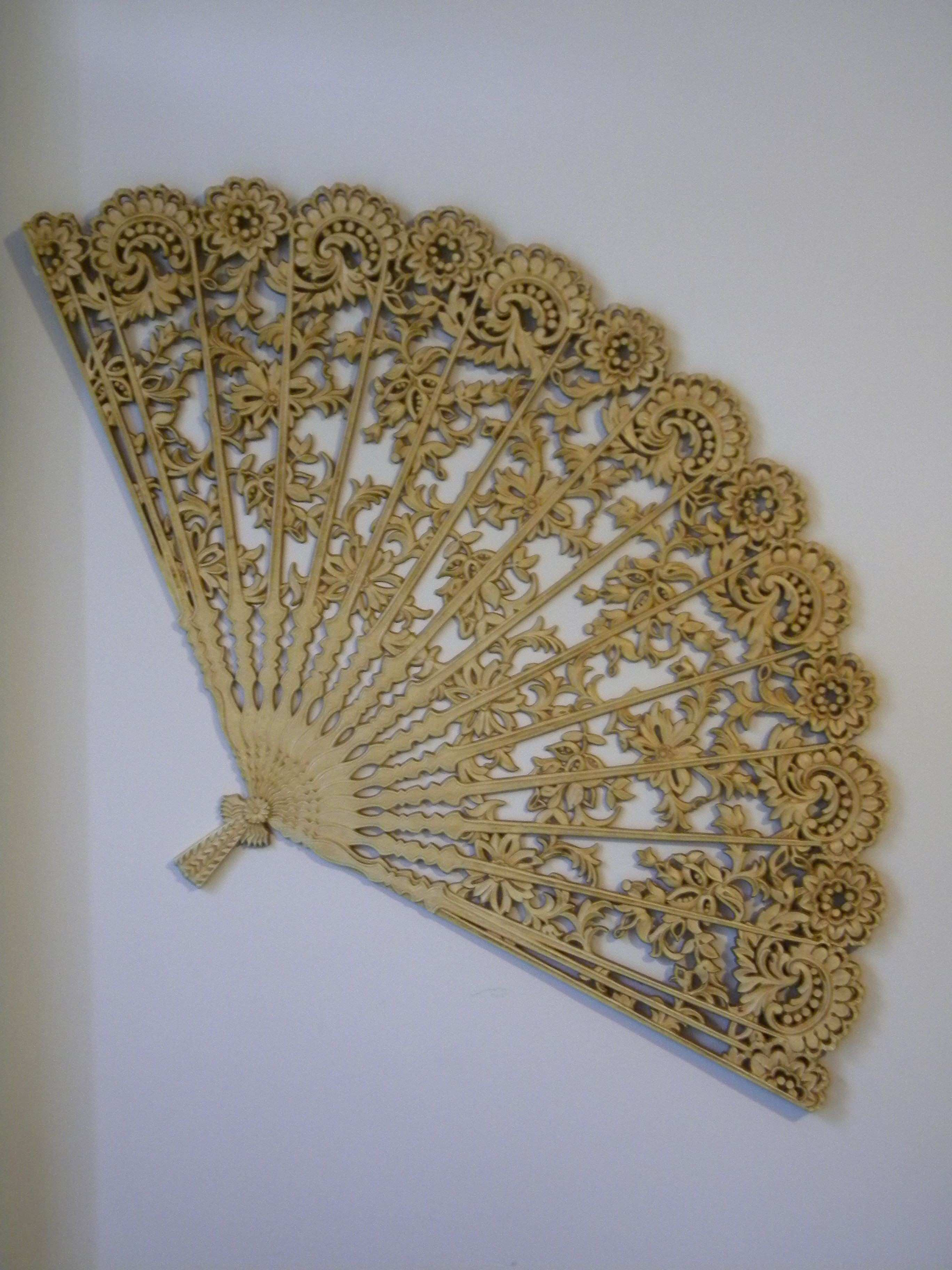Huge Chinese Fan wall decor Love this