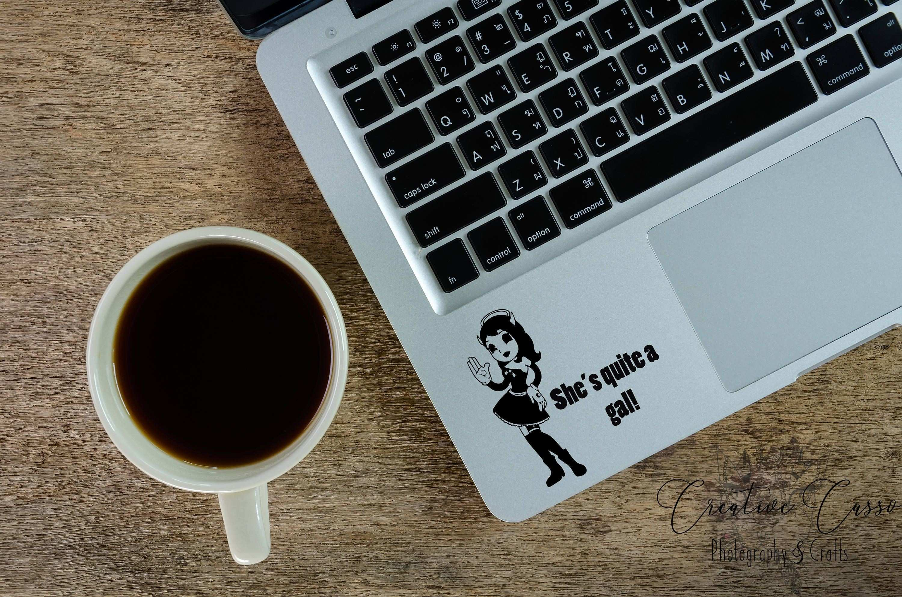 Alice Angel She s Quite A Gal Bendy Decal Car Window Macbook by