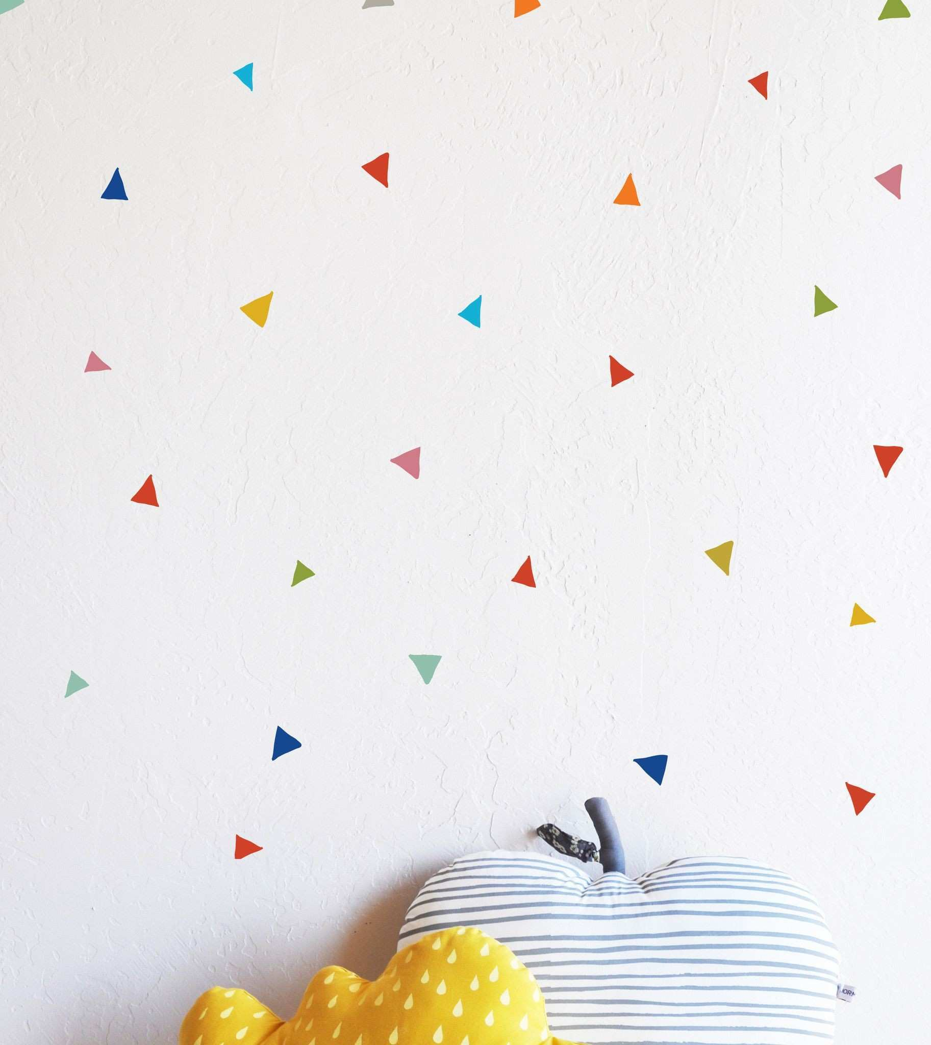 Primary Tiny Confetti Triangles WALL DECAL Pinterest