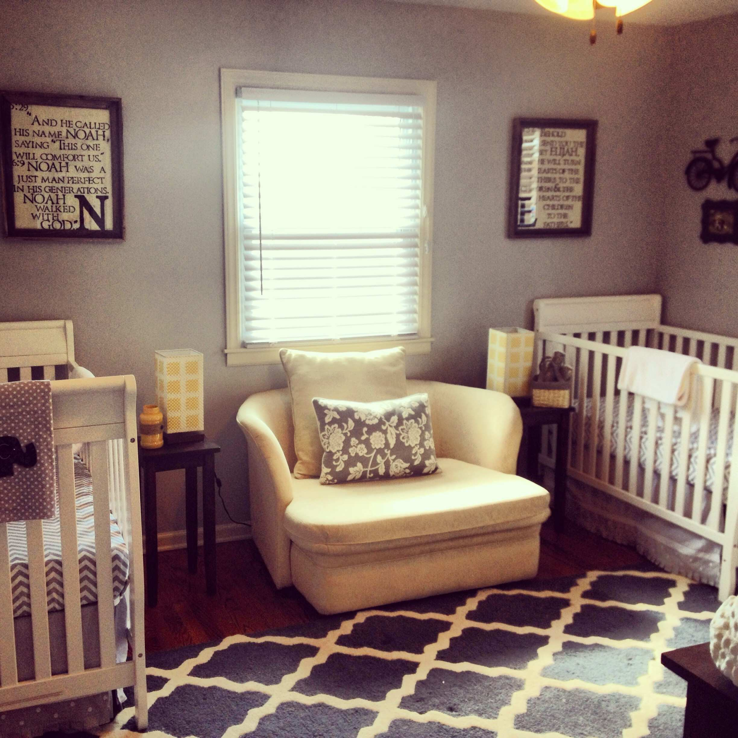 Boy Girl Twin Toddler Bedroom Ideas With Wooden Single Beds