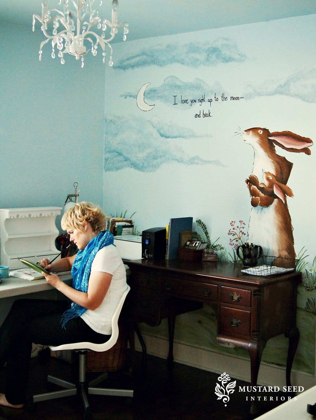 Love this wall painting Design Inspiration Pinterest