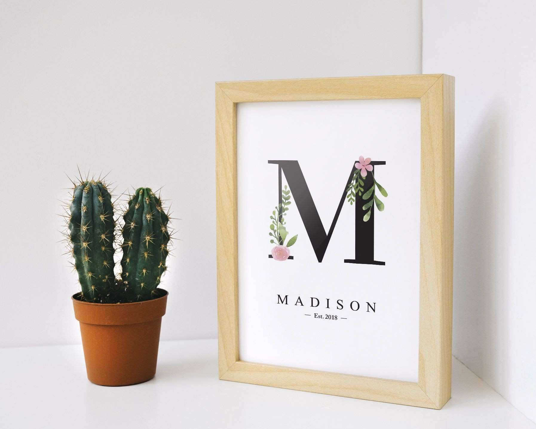 Custom Nursery Print Letter M Letters Decoration Baby Nursery