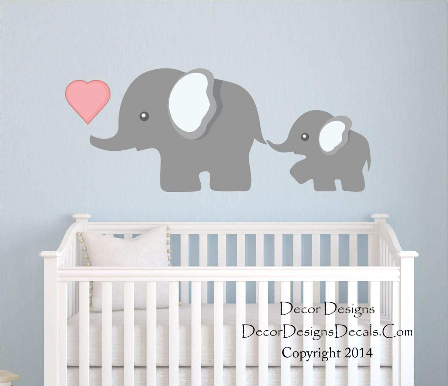 Elephant Wall Decal by Decor Designs Decals Nursery Wall Decal