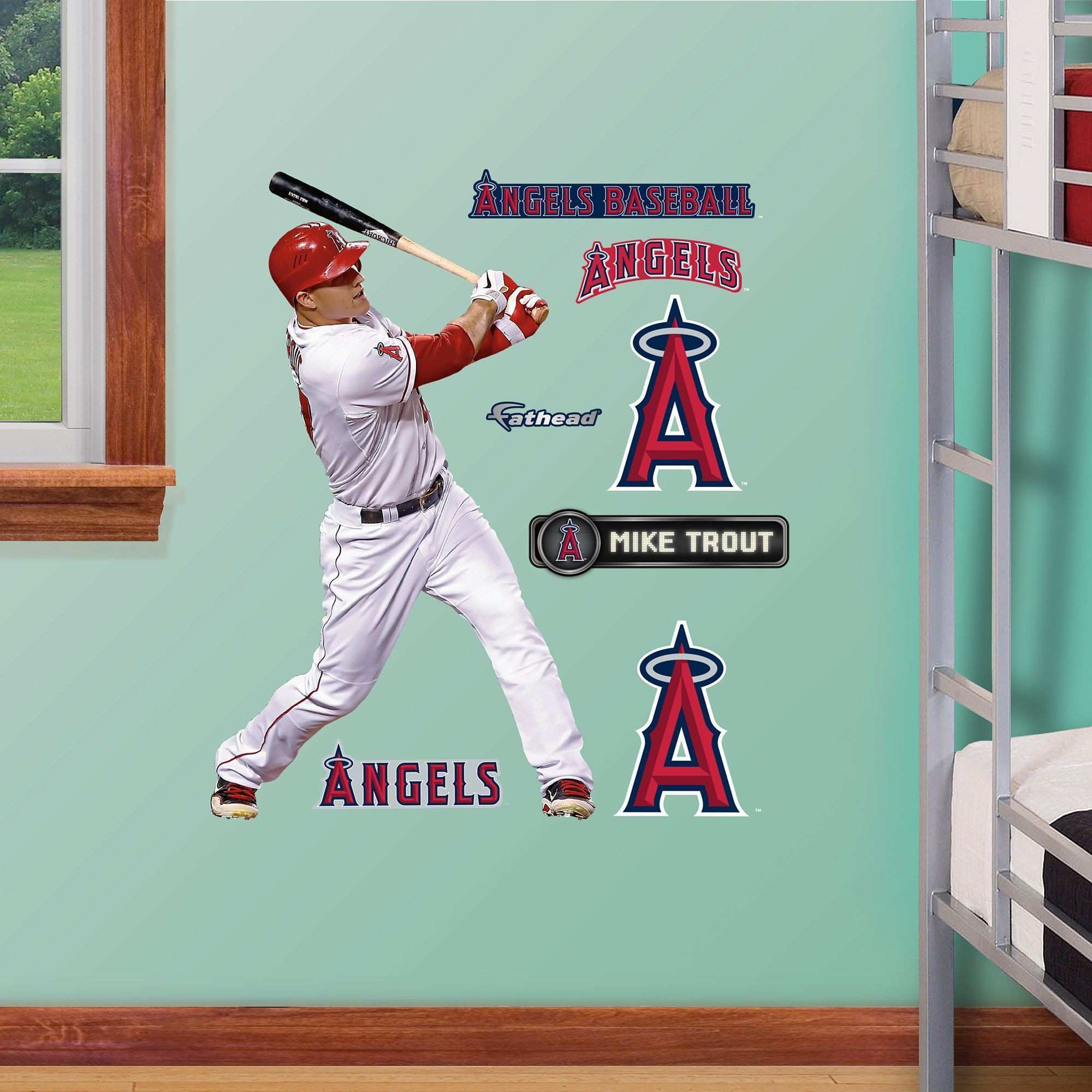 Fathead Jr Mike Trout Wall Decals Products Pinterest