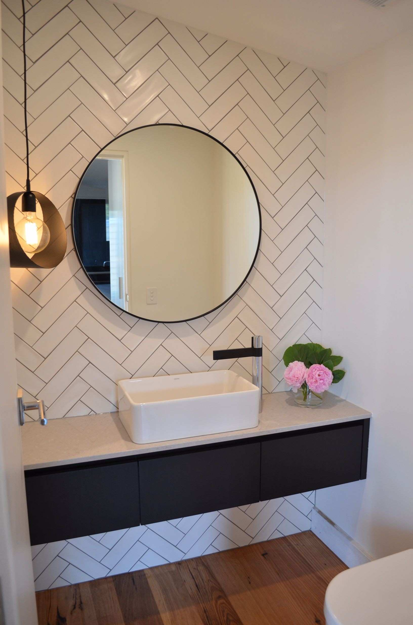 Bathroom look we love Round mirrors Pinterest