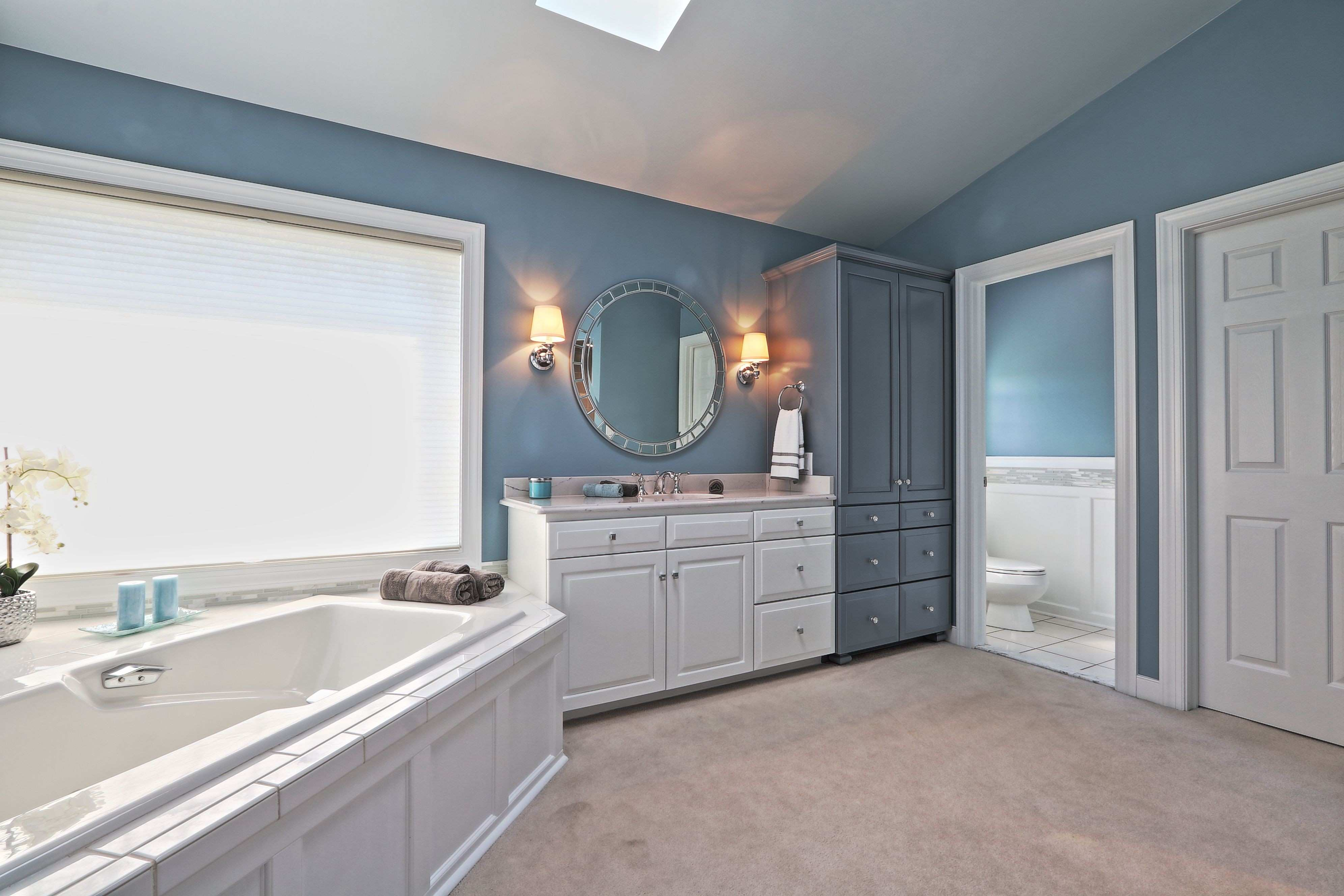 Bathroom Wall Mirrors Awesome White And Gray Cabinets Crystal S Round Multi Faceted
