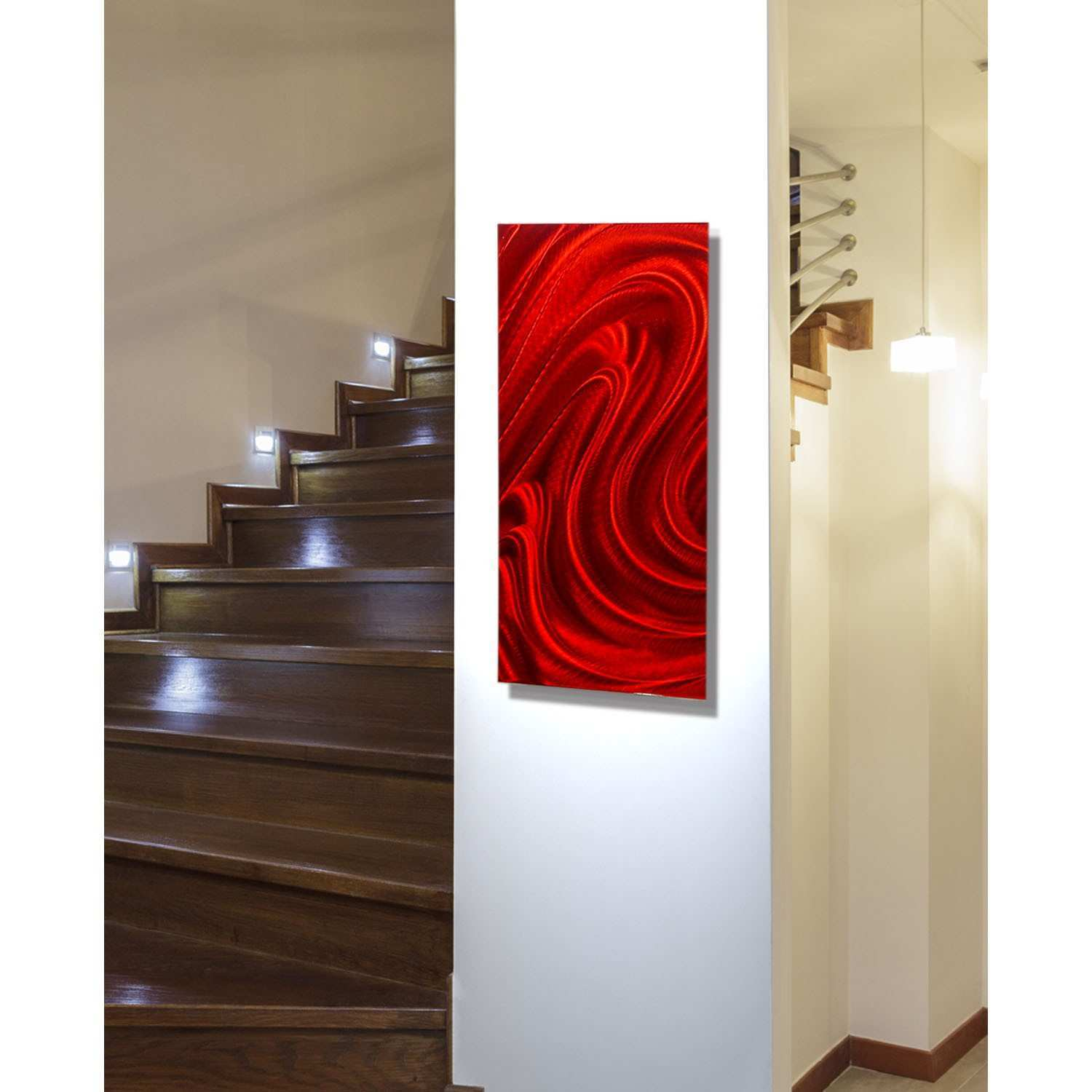 Red Metal Art Wall Decor Home Decorating Ideas Design Bed Bath