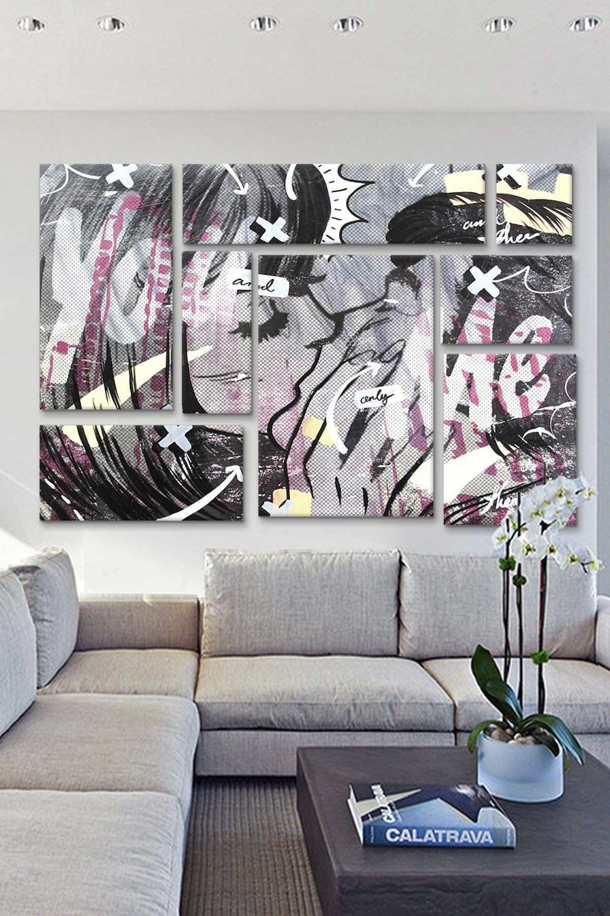 And ly 8 Panel Sectional Wall Art on HauteLook Art