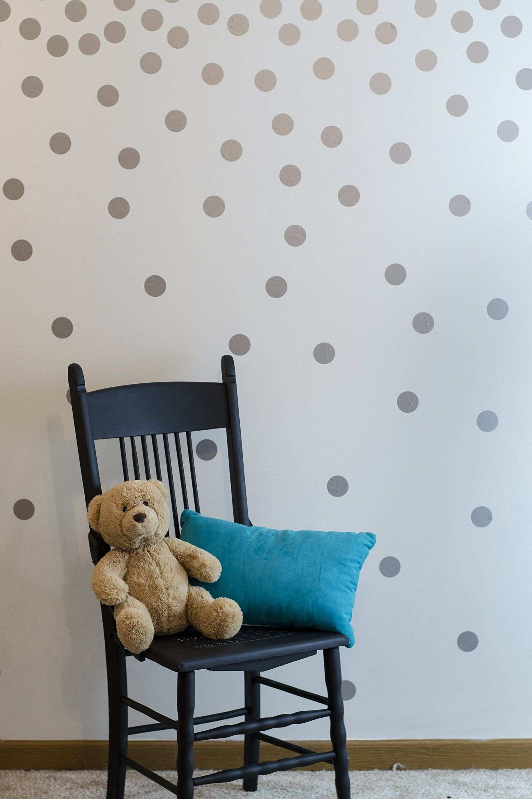 Silver Wall Decal Dots 200 Decals
