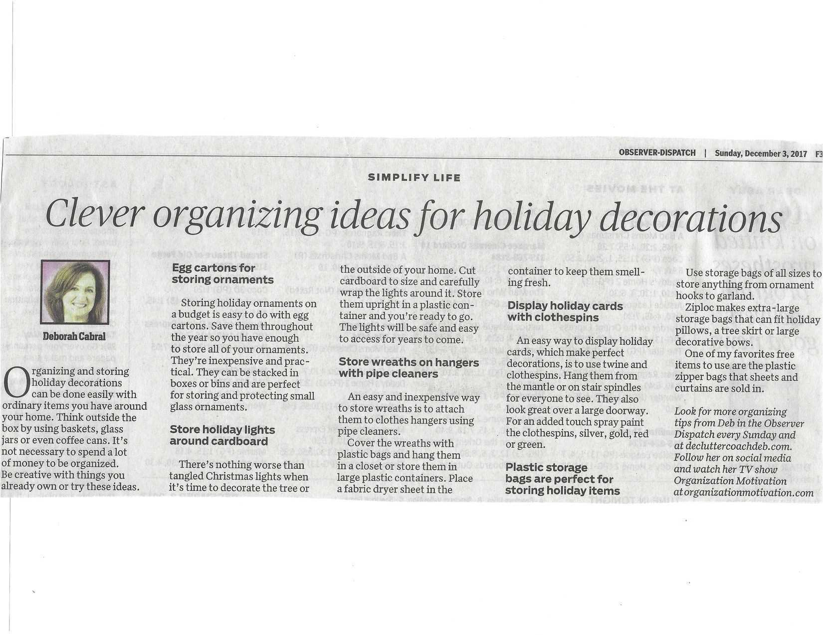 Utica Observer Dispatch Utica NY Clever Organizing Ideas for