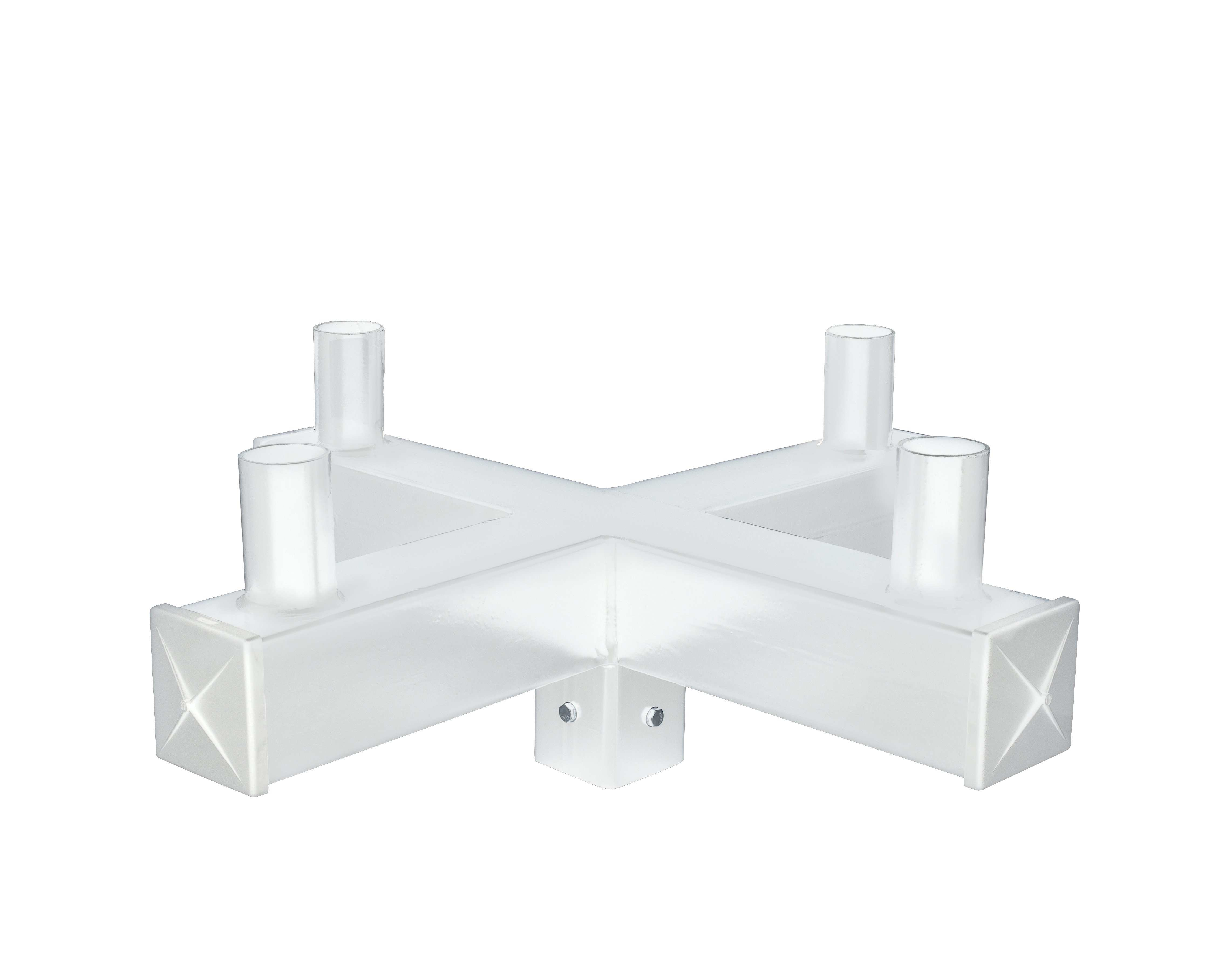"""4"""" Square 90° Quad Bullhorn with 4 x 2 3 8"""" O D Mounting Tenons"""