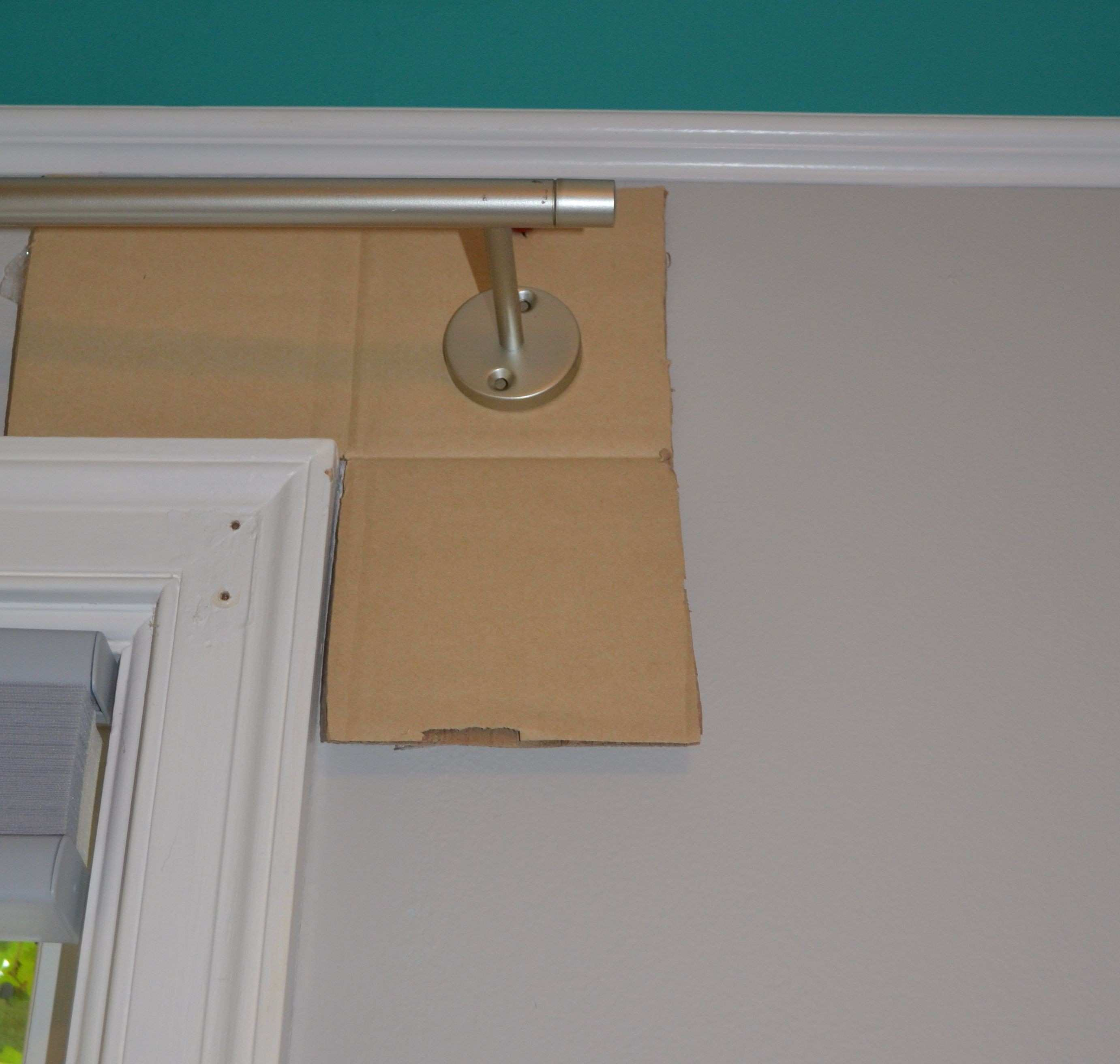 Template for hanging curtain rods …