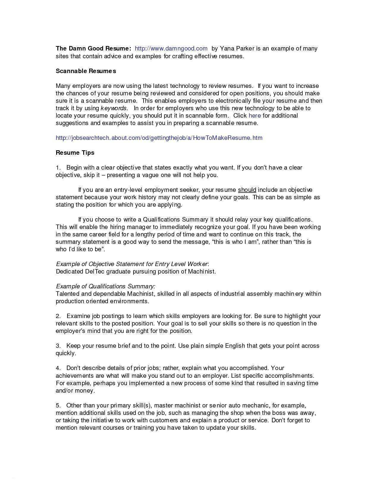 How To Make A Summary For A Resume cover letter example of