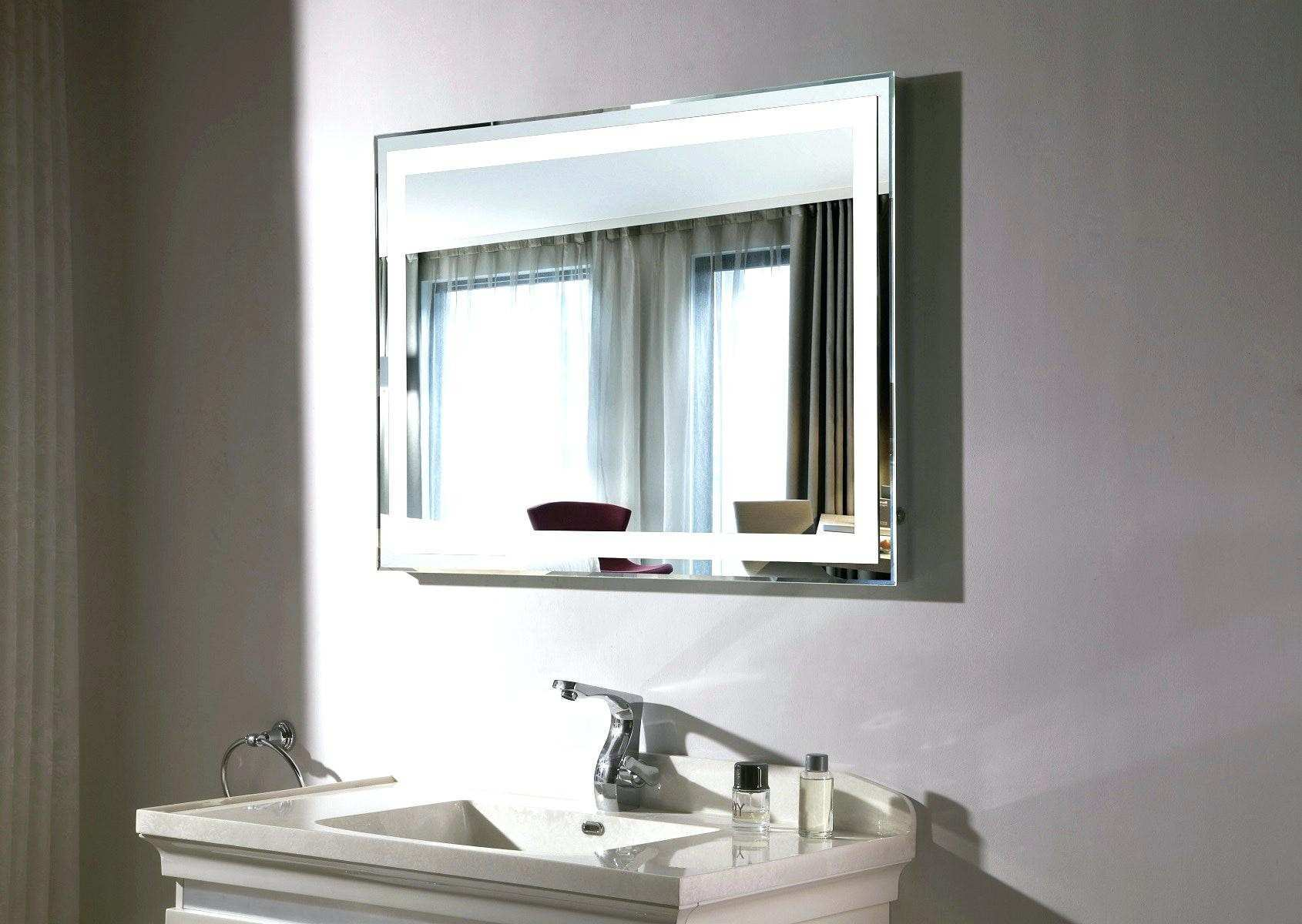 Mirrored Bathroom Cabinet Light Vanity Mirror Wall Mount