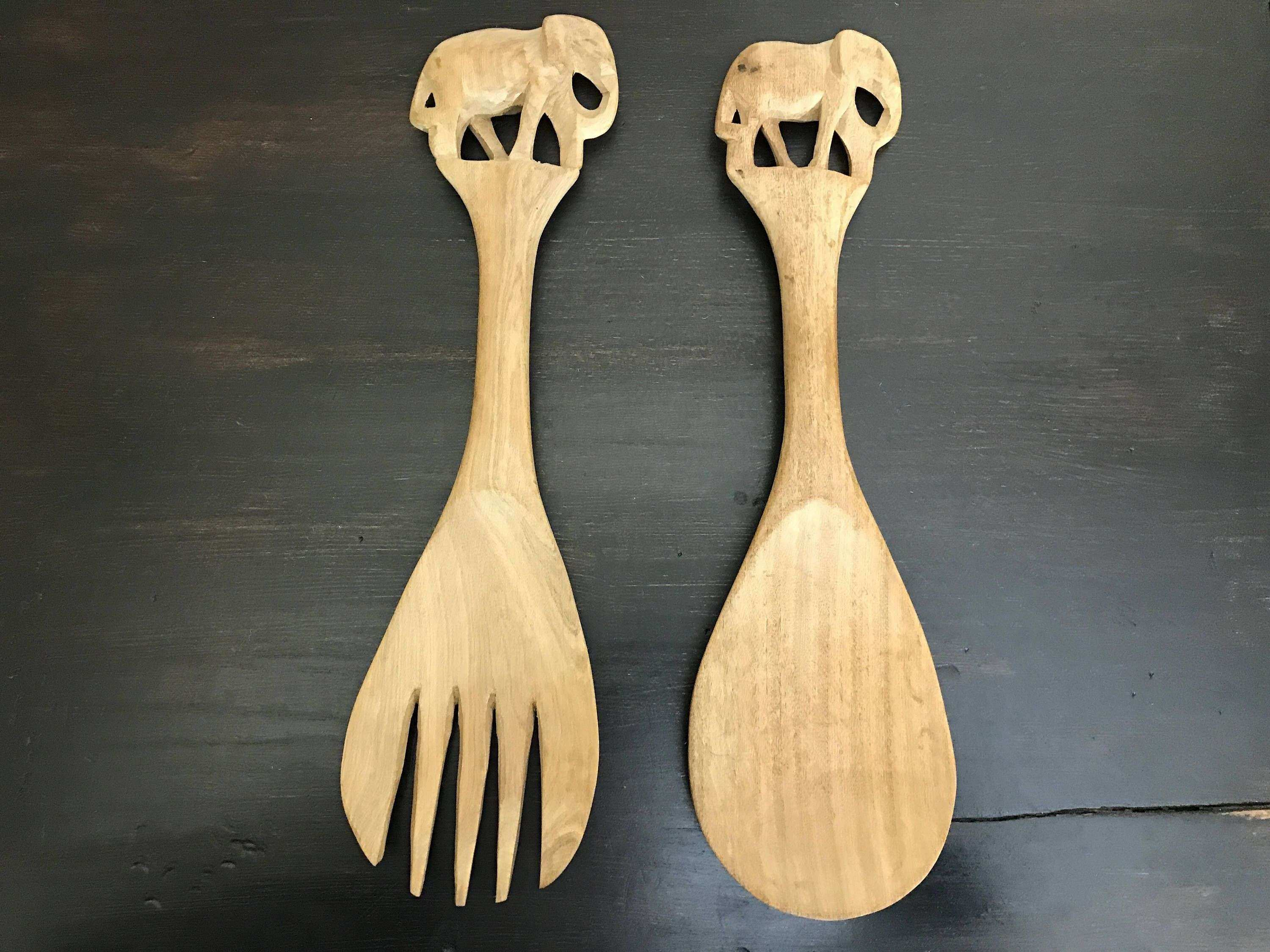 Old Fashioned Large Fork And Spoon Wall Decoration Image Collection ...