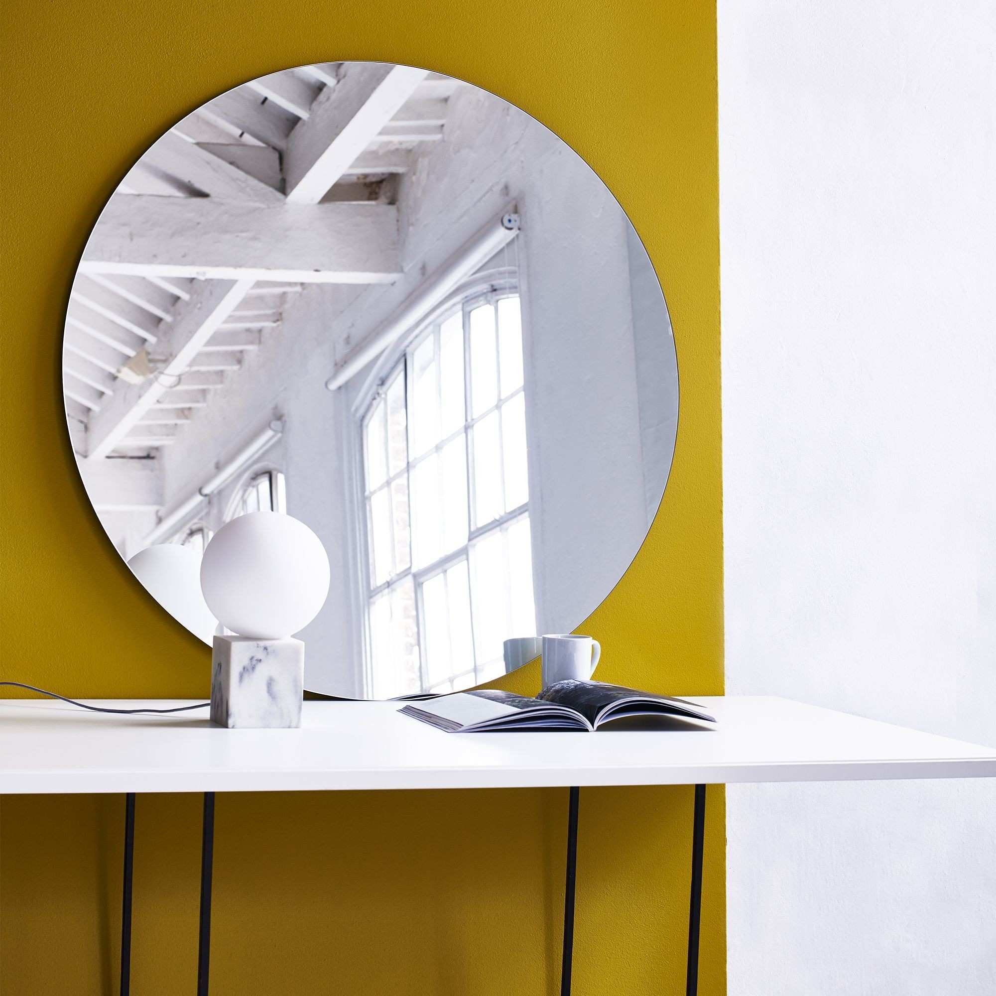 Buy the Round Wall Mirror at Oliver Bonas We deliver Homeware
