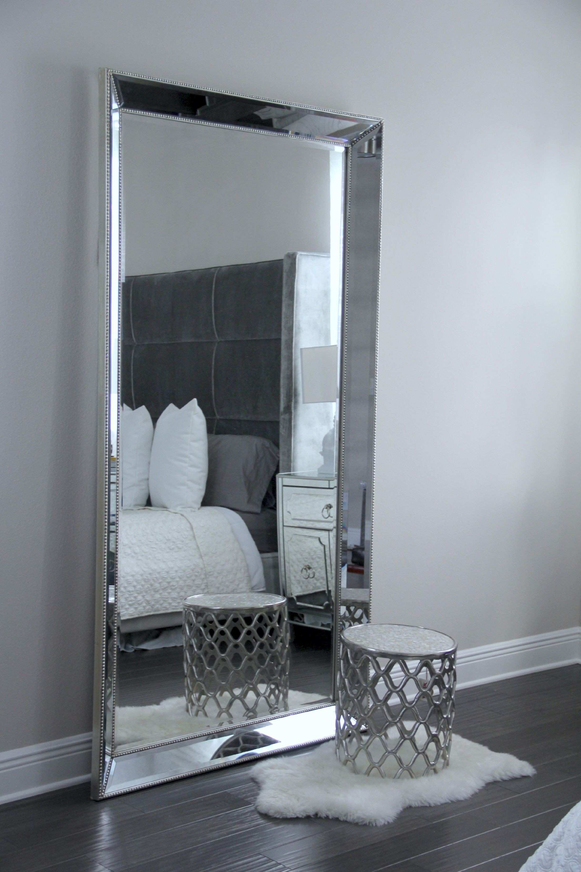 Antique Leaner Mirror For Your Room Decoration Ideas Silver Leaner