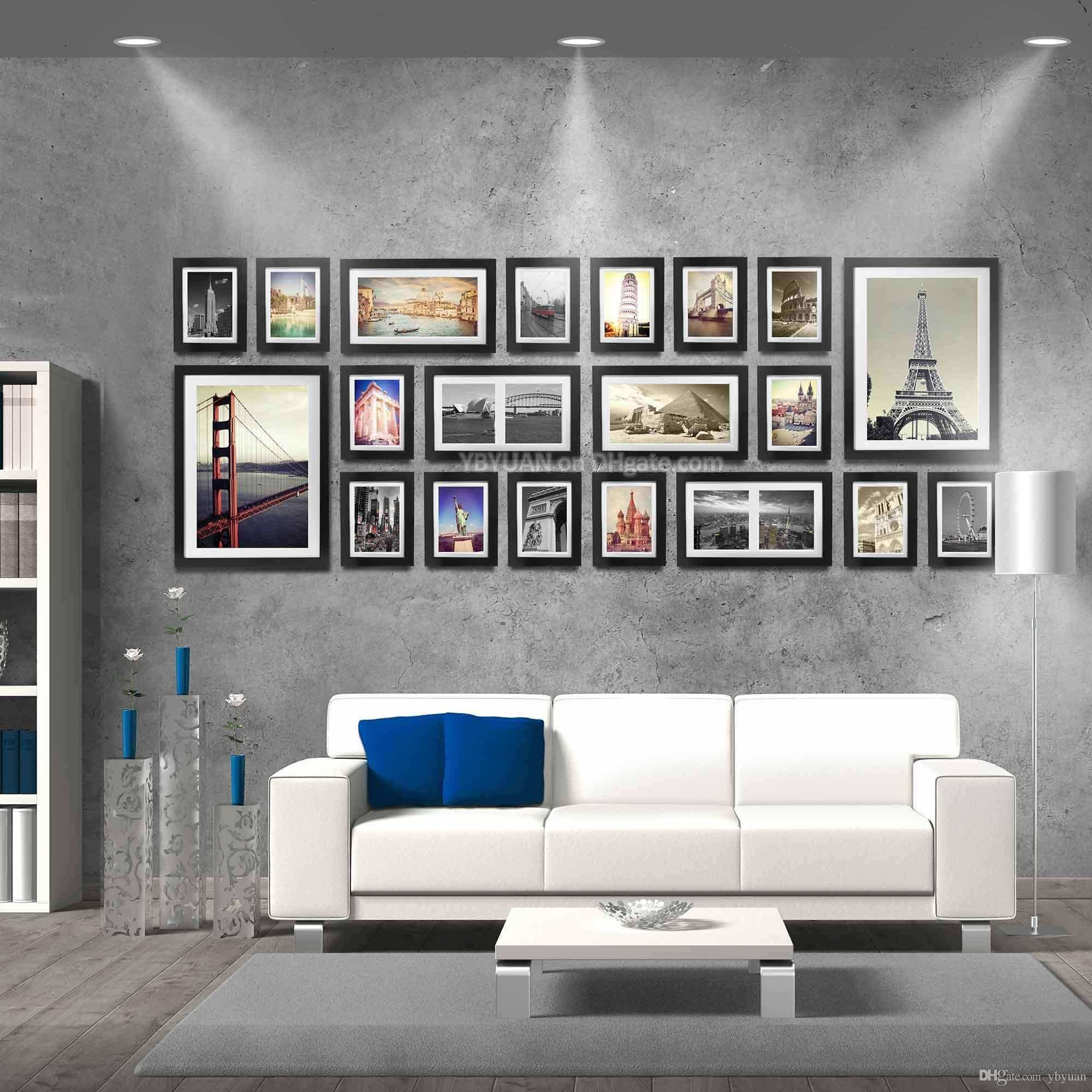 Big Picture Frames New Wood Frame Gallery Wall Modern Style Flat Moulding