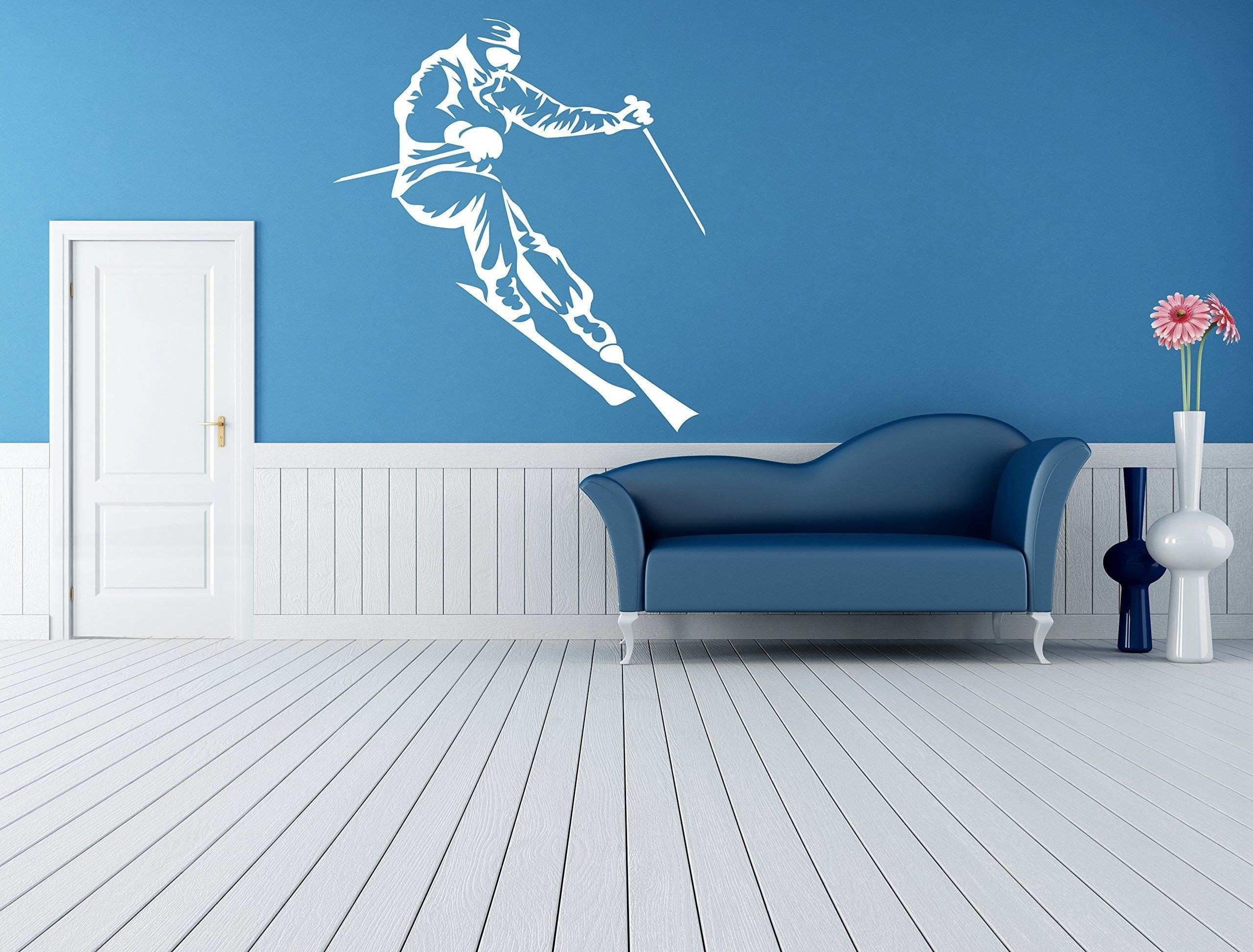 Wall Room Decor Art Vinyl Sticker Mural Decal Ski Snowboard Slop Big