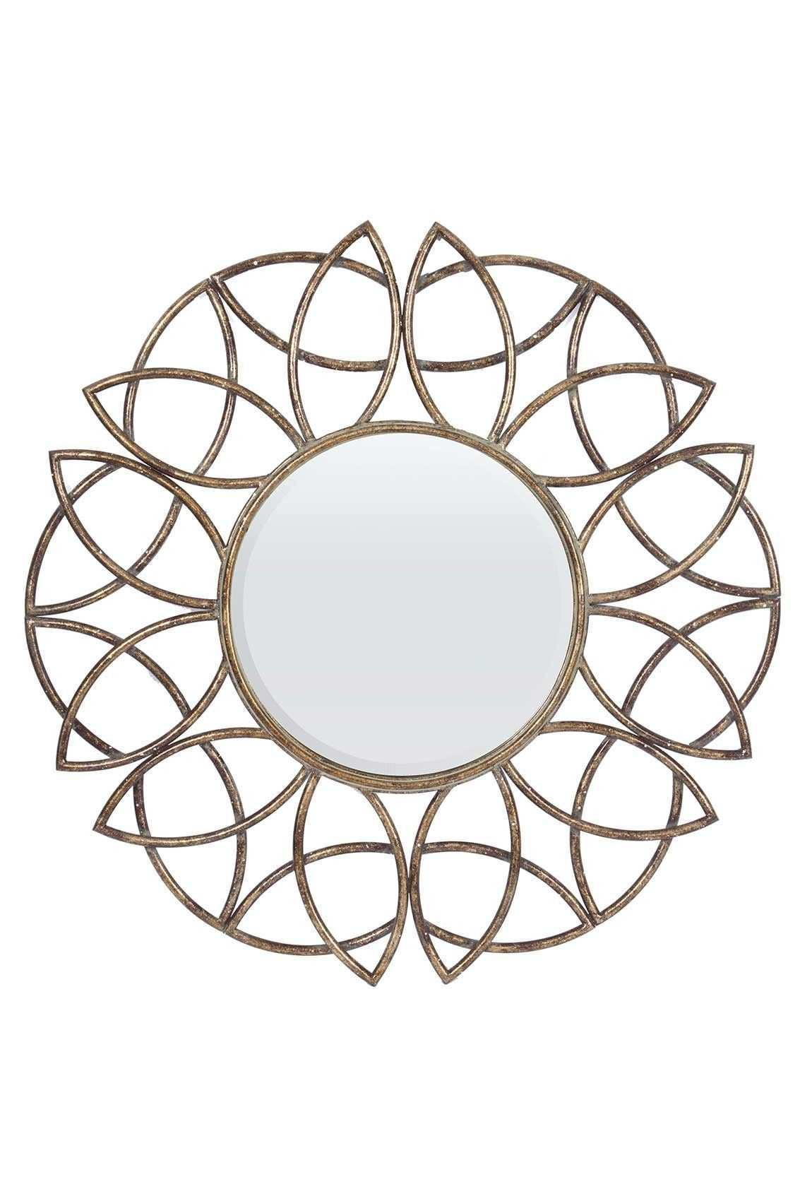 Big Round Mirror Beautiful Round Stylish Bronze Finish Wall Mirror 3ft 90 5cm