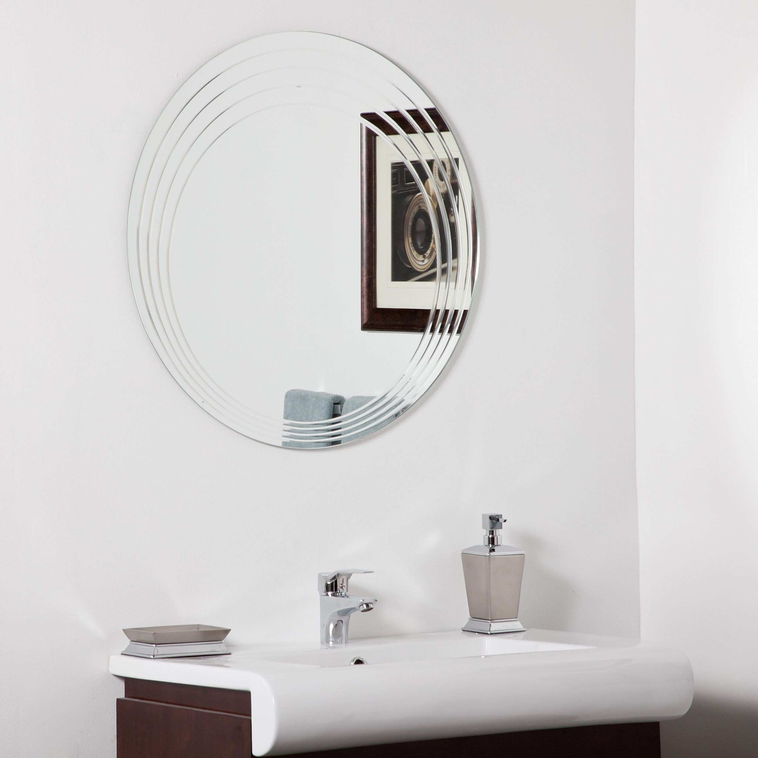 Lovely Round Bathroom Mirror Within Renew And Revitalize Your