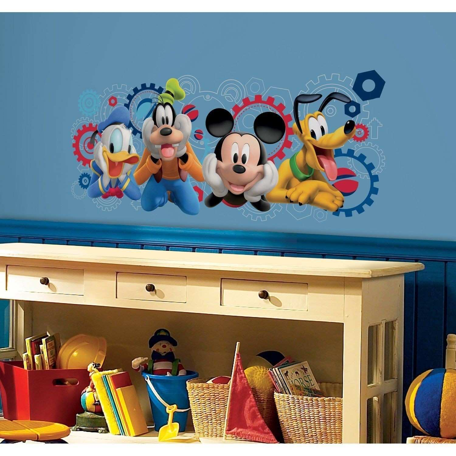 Roommates Disney Mickey Mouse Clubhouse Capers Peel and Stick Giant