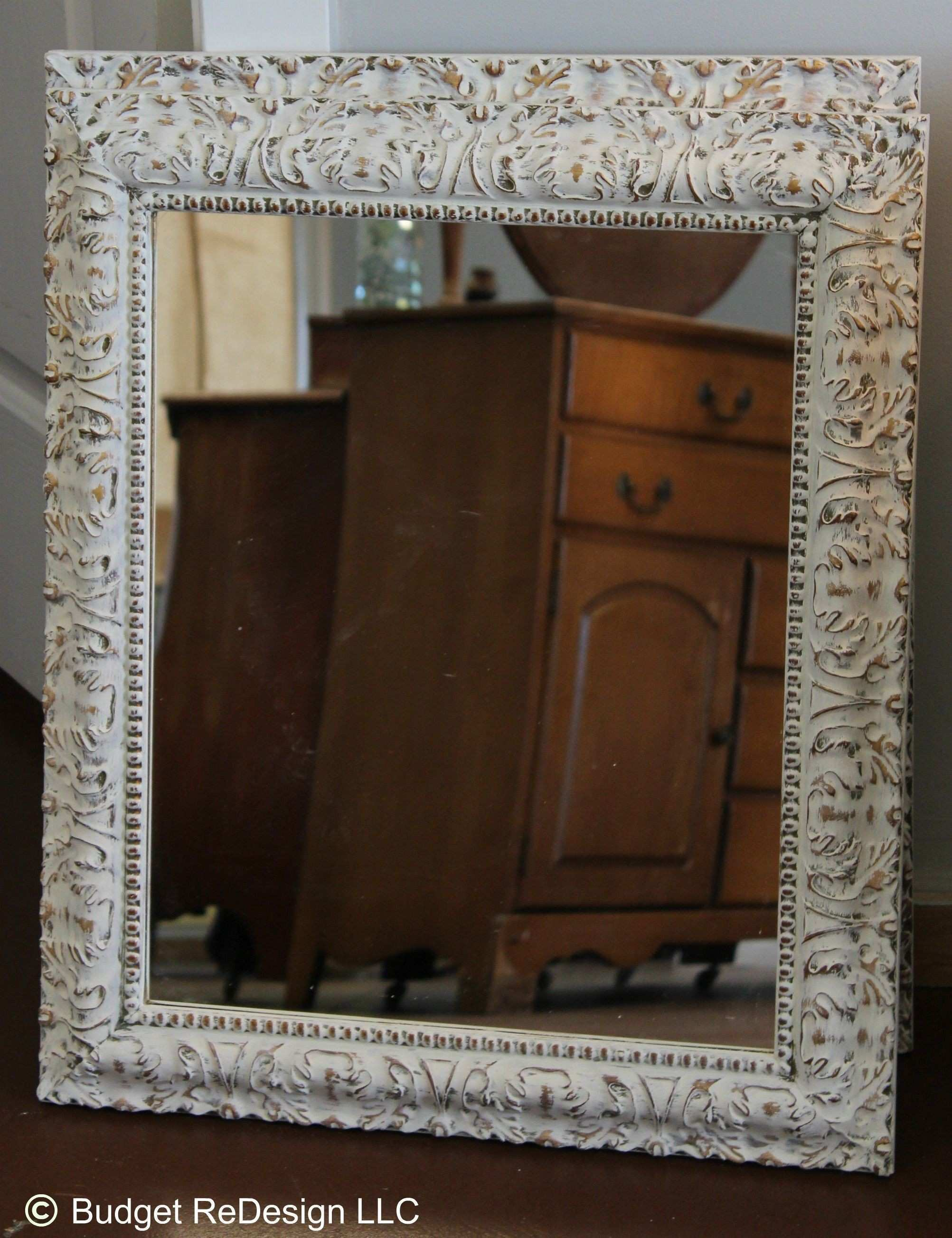 Previously gold mirror turned Shabby Chic with Annie Sloan s Old
