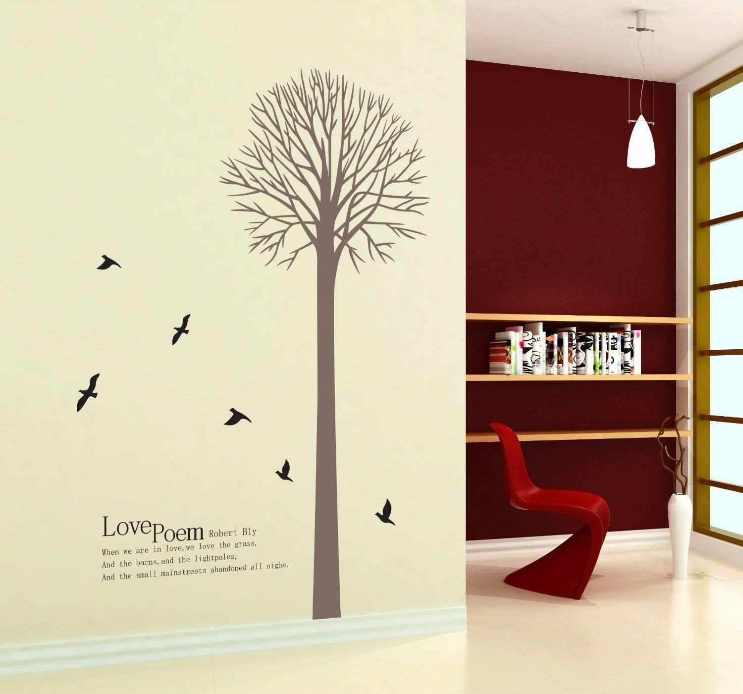 New Design Love Poem by Robert Bly Wall Decal Tall Tree with Black