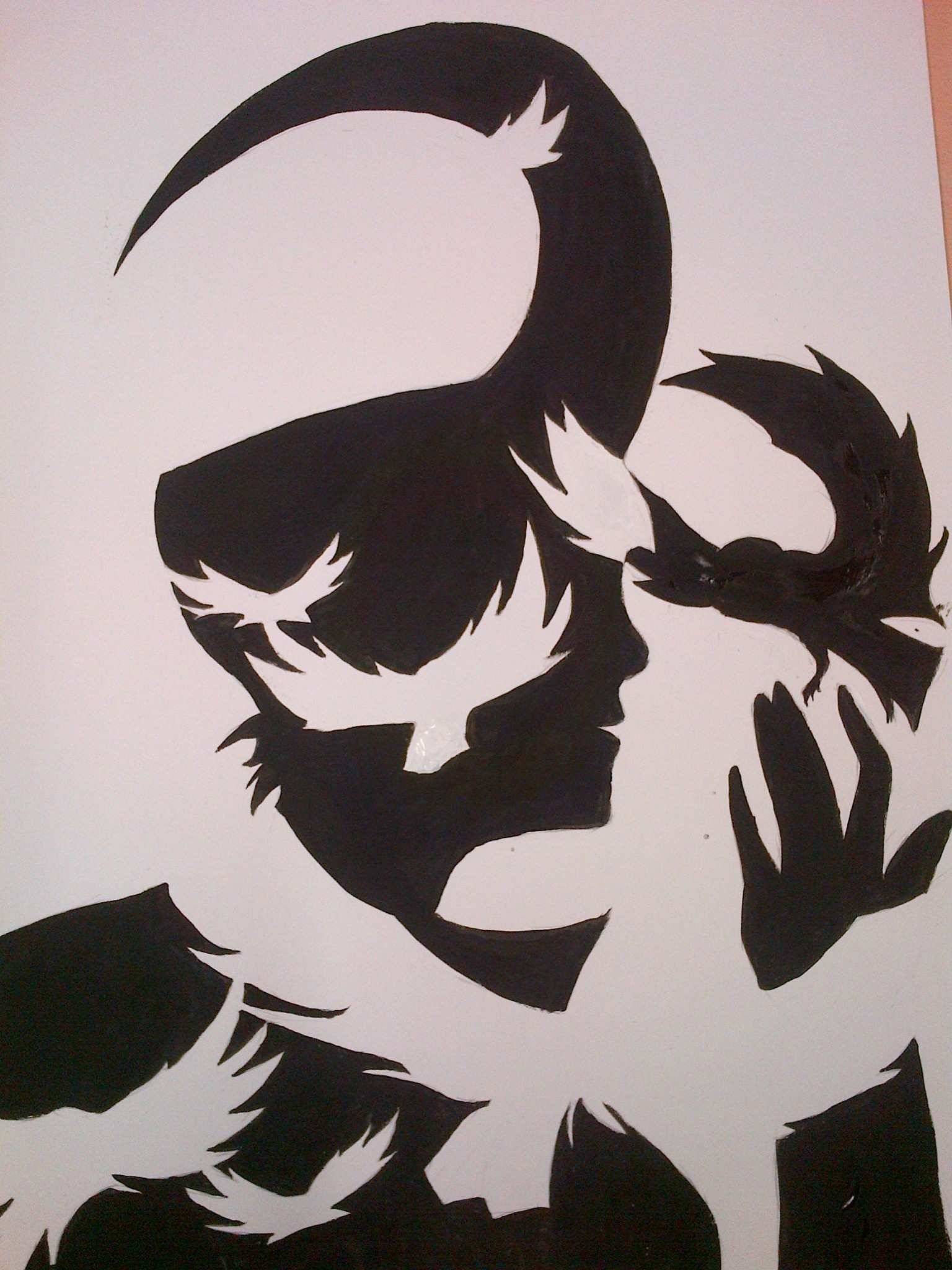 Loki Painting Silhouette · Silhouette Art · Art on Cut Out Keep