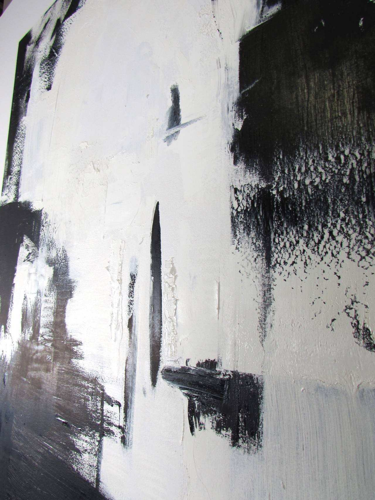 Cool Black And White Oil Painting Home Design Techniques Chandler