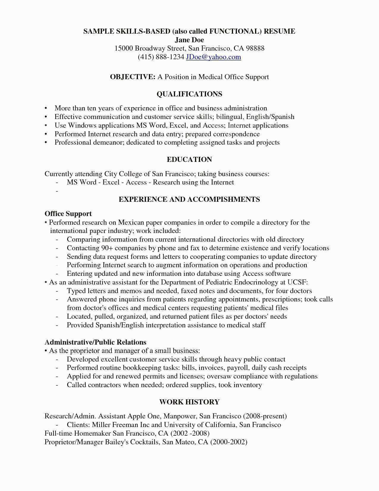 Resume Skill Examples Awesome Awesome Examples Resumes Ecologist