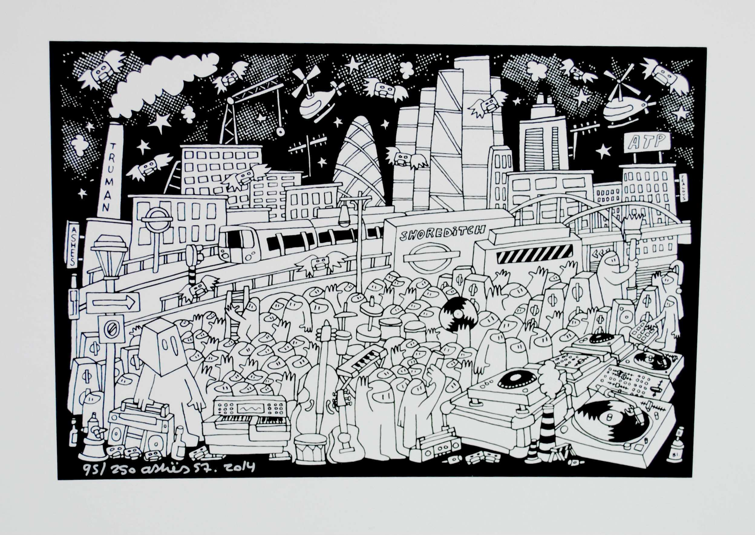 Shoreditch HIGH STREET Print by Ashes57