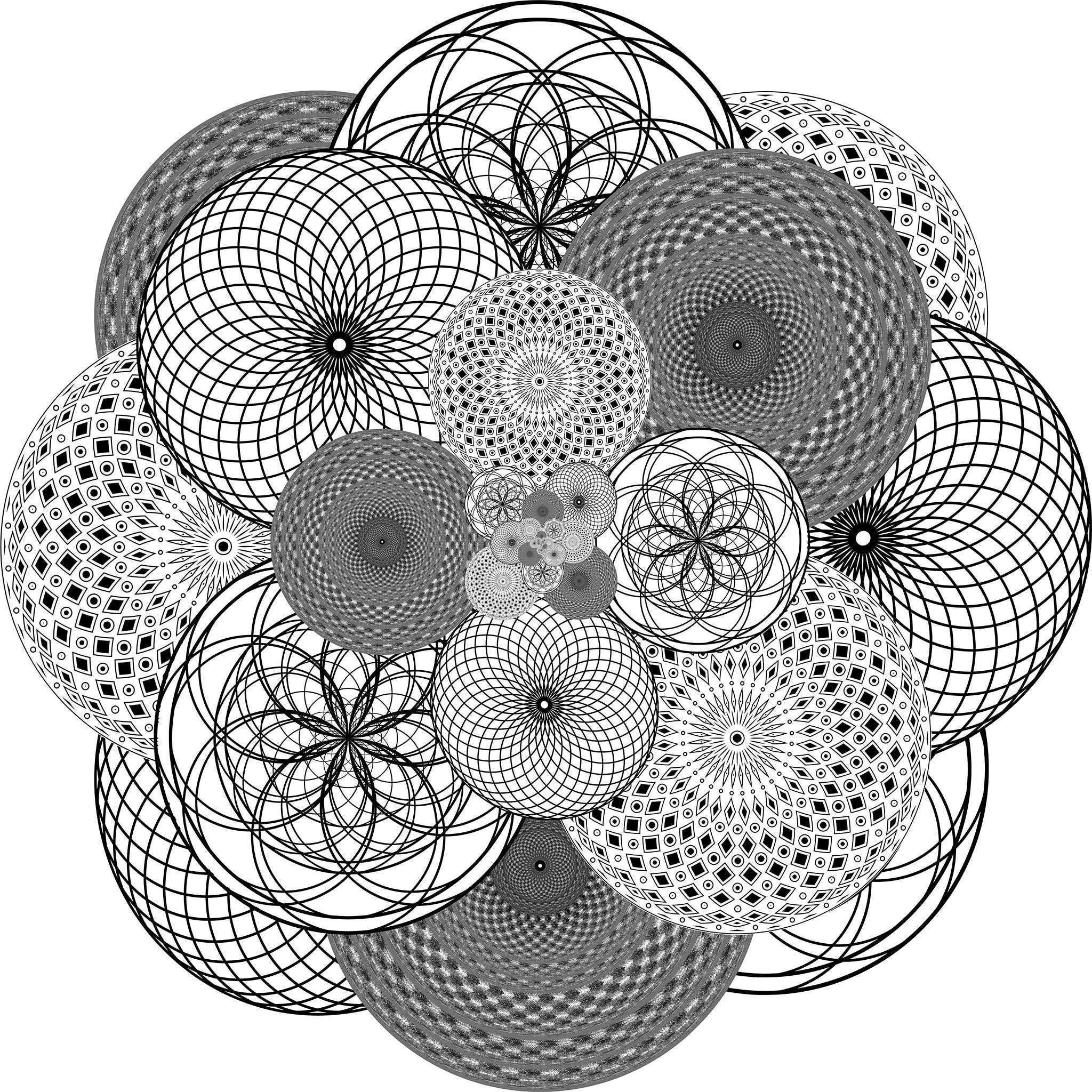 Supercluster Geometric Fabric Wall Sticker Circle Conspicuous Design
