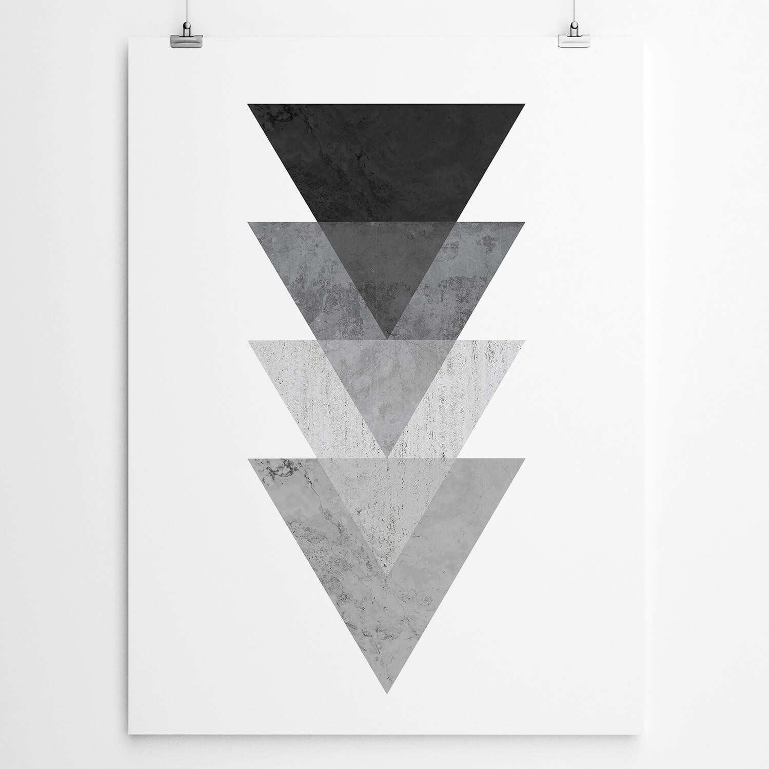 Black Geometric Art