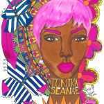 Black Art Inspirational Black Art Black Girl Pink Hair Colorful Pretty Unique Artist