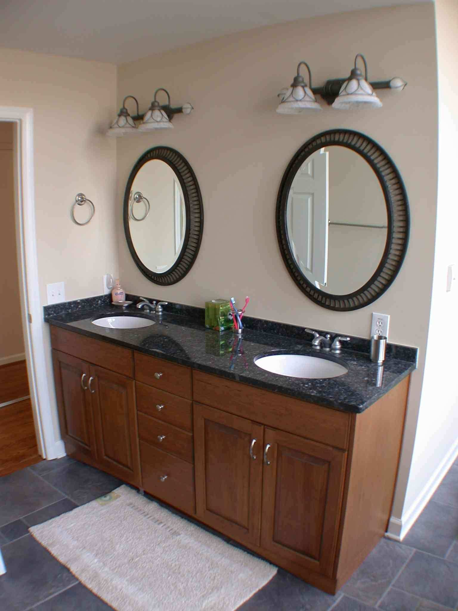 White Oval Bathroom Mirror Awesome Country White Stained Wooden