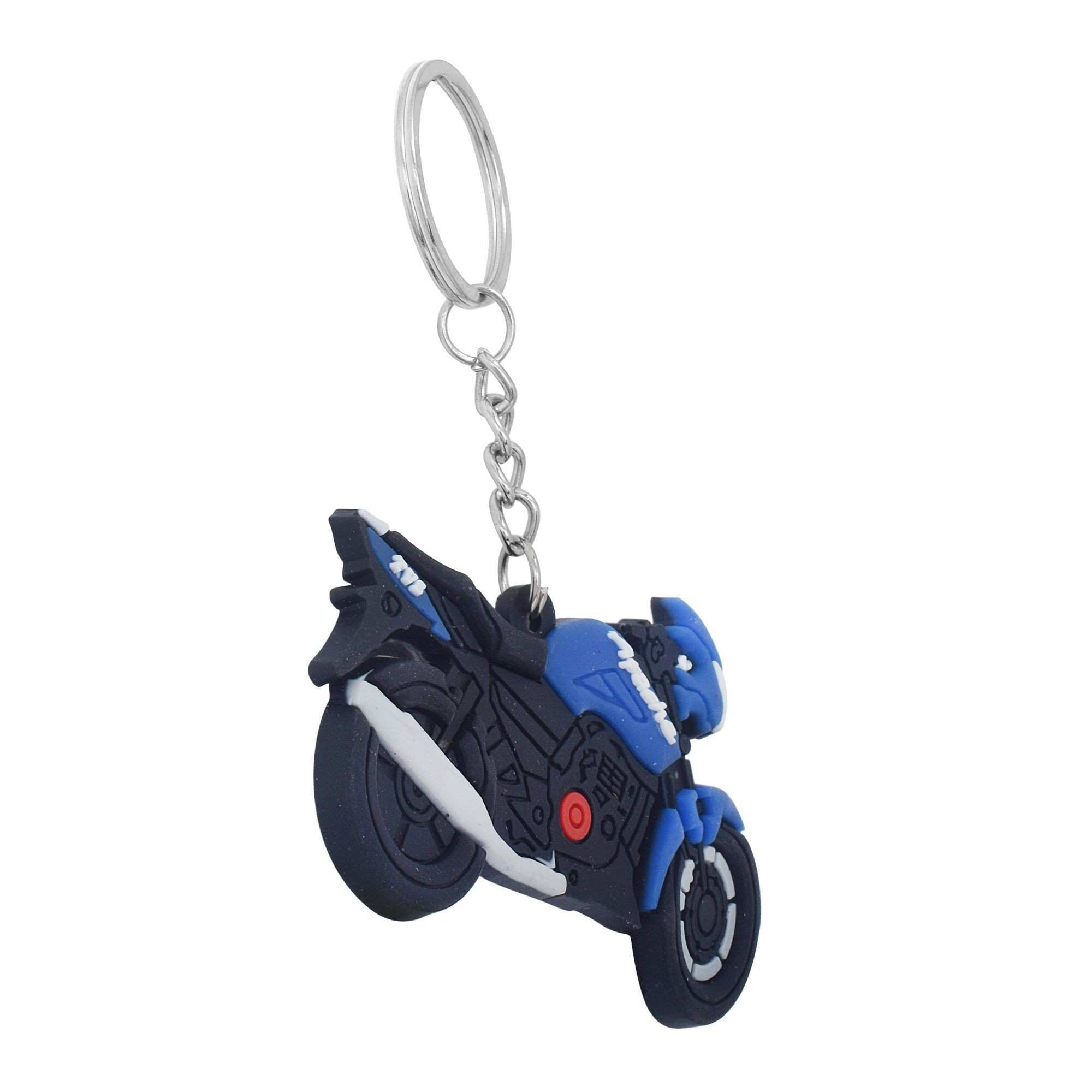 Dzine Trendz PVC Black and Blue coloured TVS Apache Keyring Bike