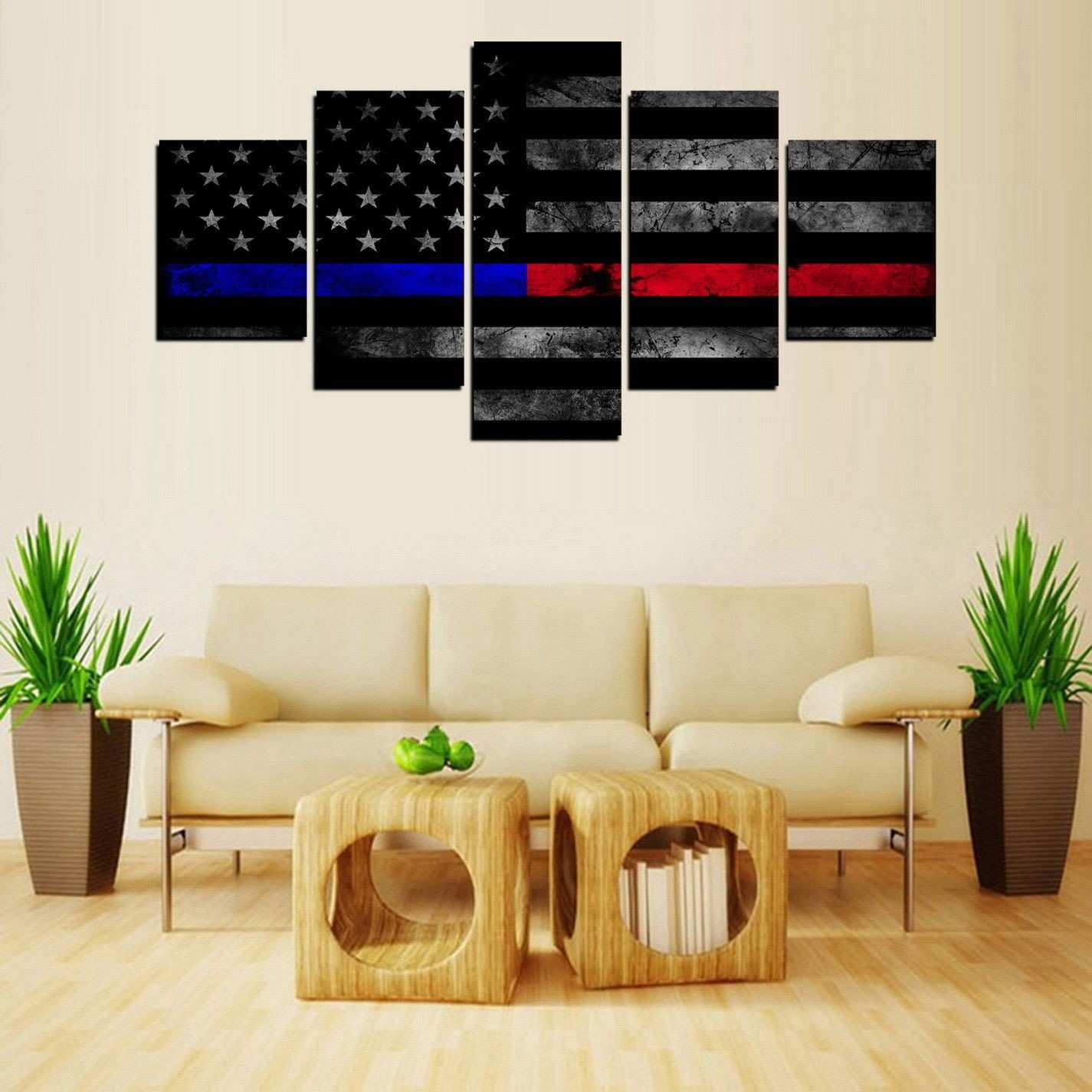 Black White and Red Canvas Wall Art Lovely $8 99 Canvas Wall Art Thin Blue and Red Line American Flag Ebay