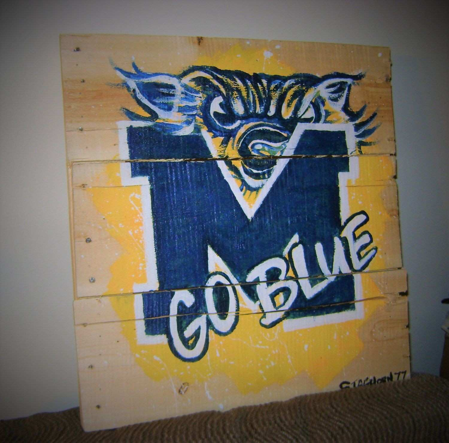 Michigan Wolverines Pallet Art Michigan Rustic New style by